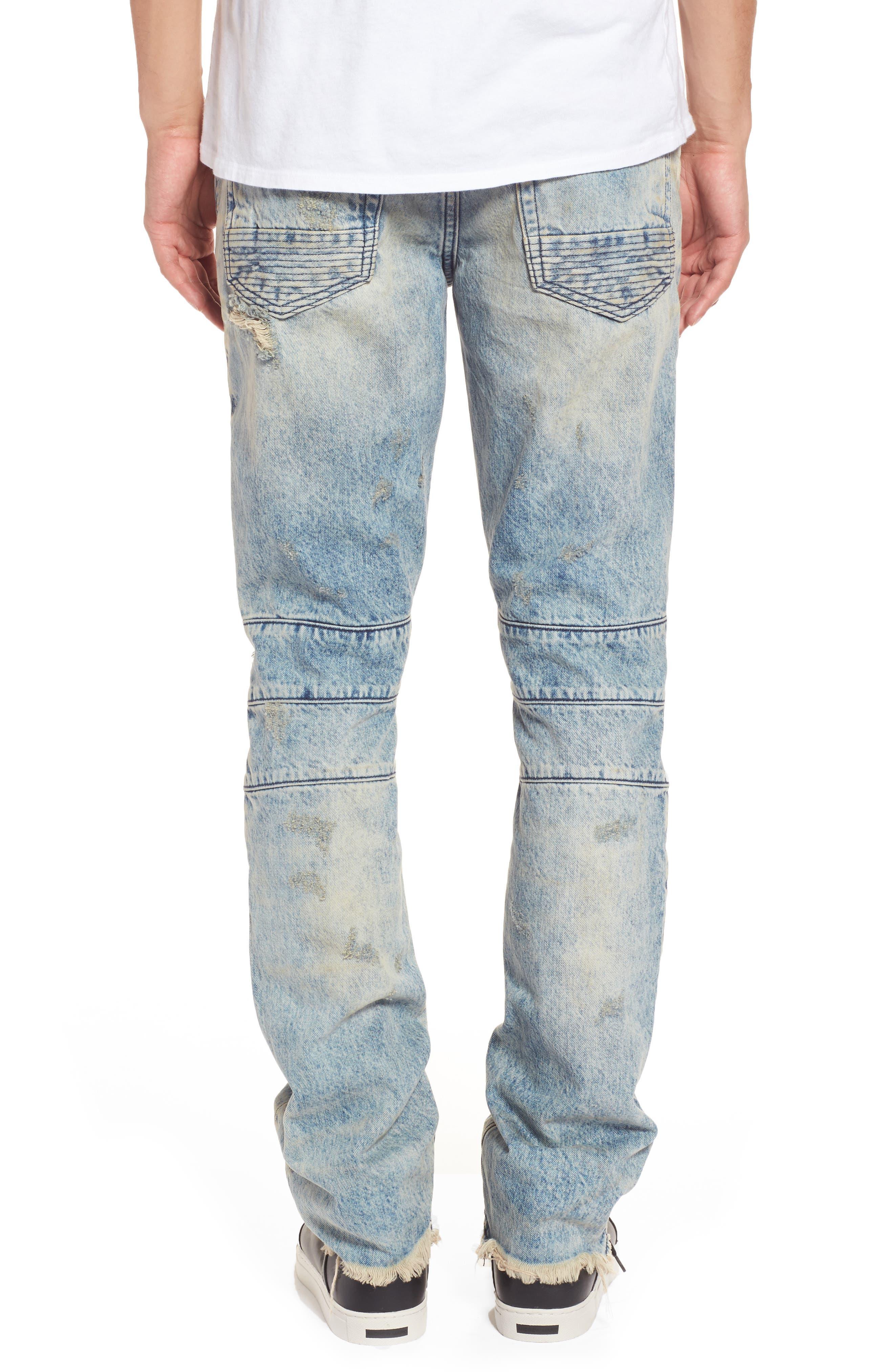 Le Sabre Slim Fit Moto Jeans,                             Alternate thumbnail 2, color,                             Harvested Light Wash