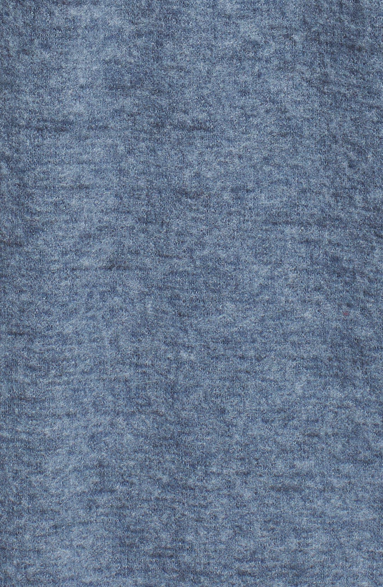 Caslon Open Knit Cardigan,                             Alternate thumbnail 5, color,                             Navy