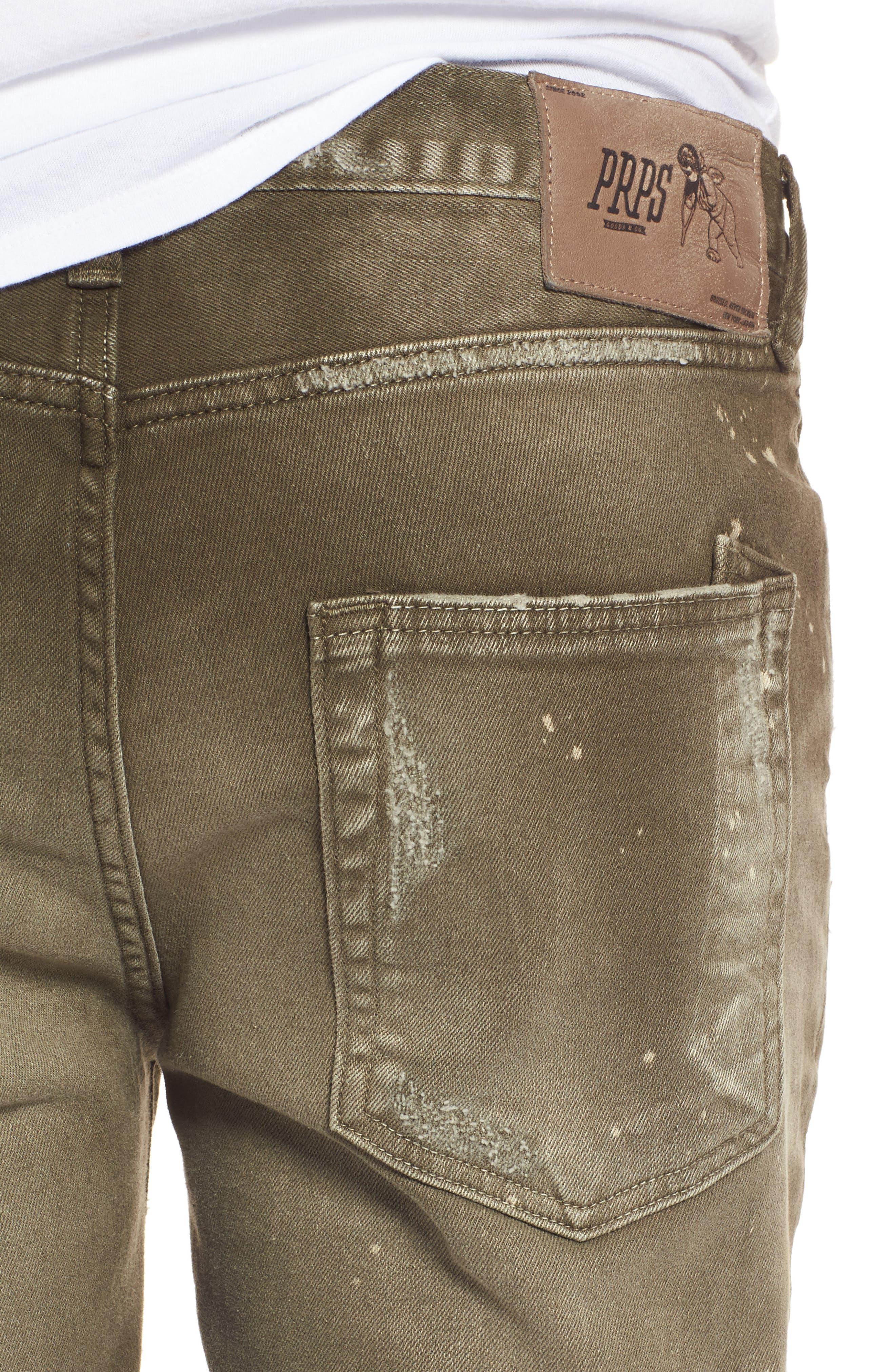 Demon Slim Straight Leg Jeans,                             Alternate thumbnail 4, color,                             Light