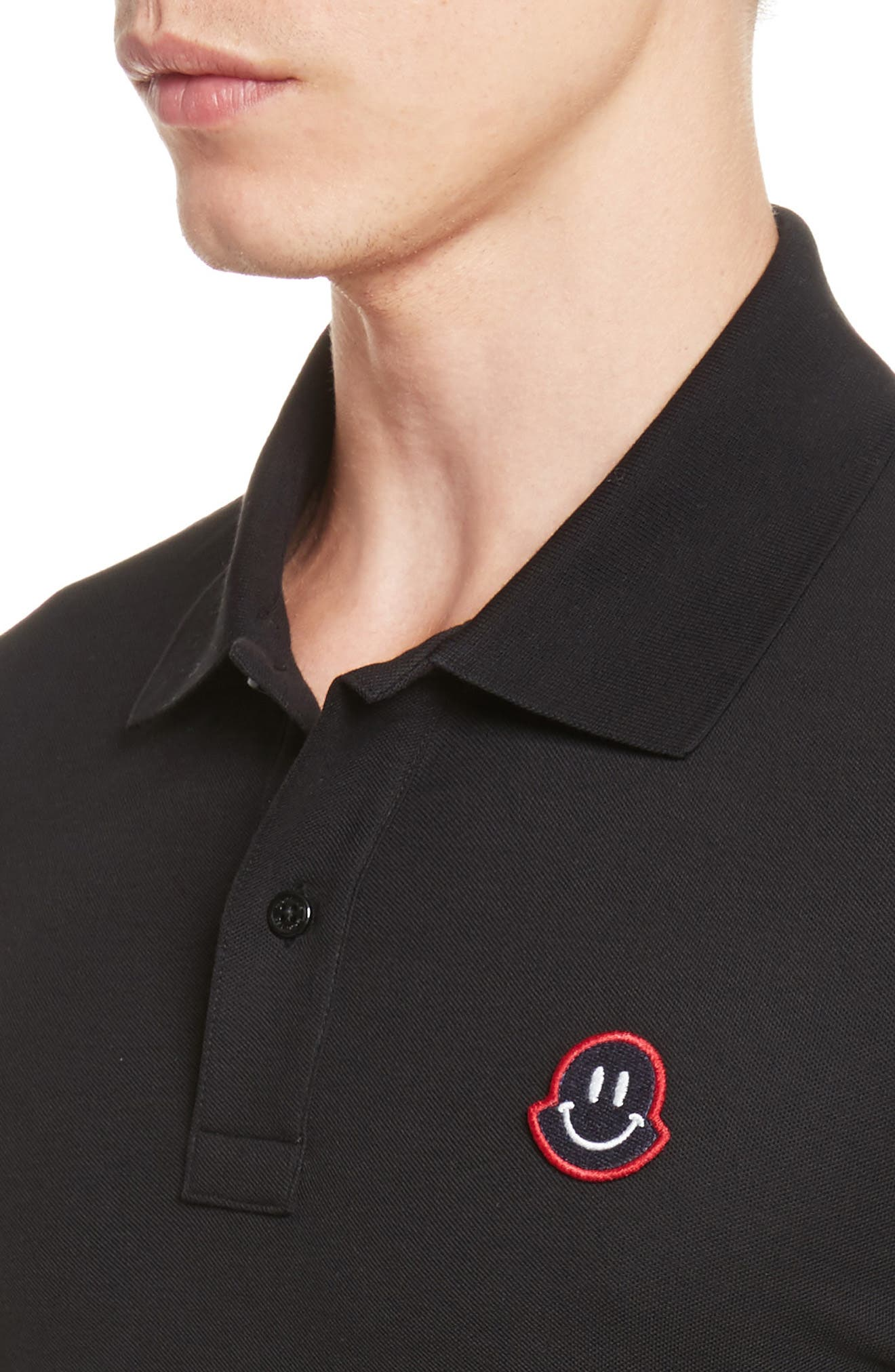 Alternate Image 4  - Moncler Smile Logo Piqué Polo