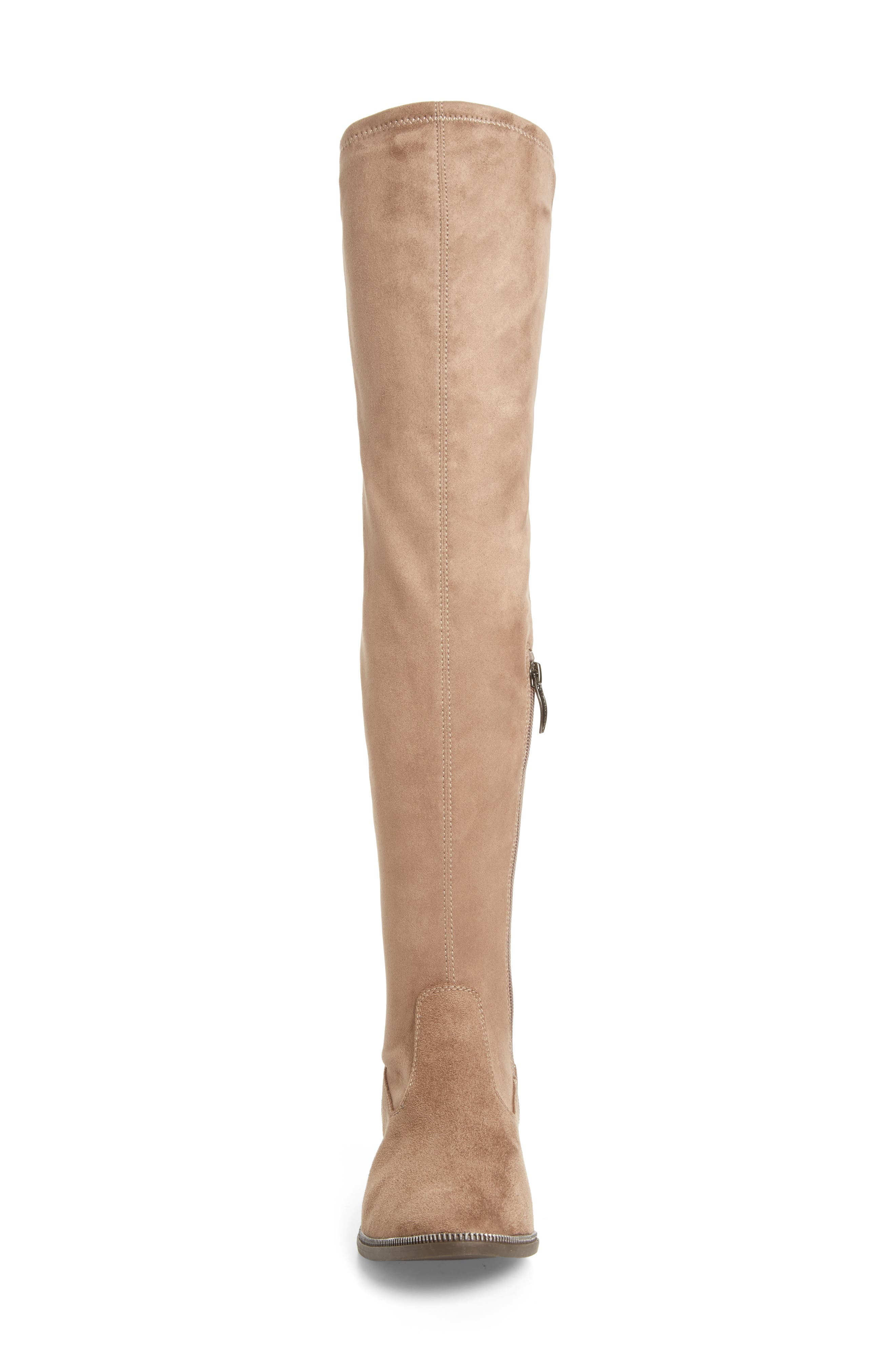 Phanie Over the Knee Stretch Boot,                             Alternate thumbnail 4, color,                             Dune Fabric