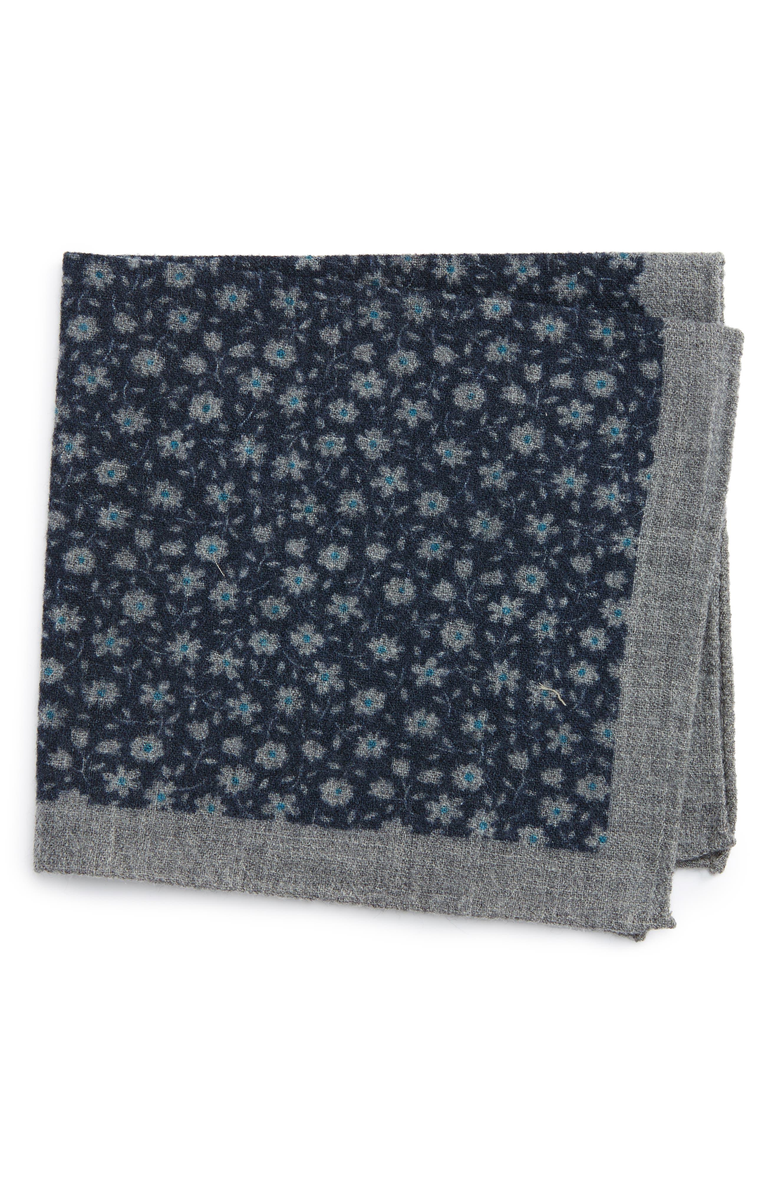 Alternate Image 1 Selected - Ted Baker London Patterned Wool Pocket Square