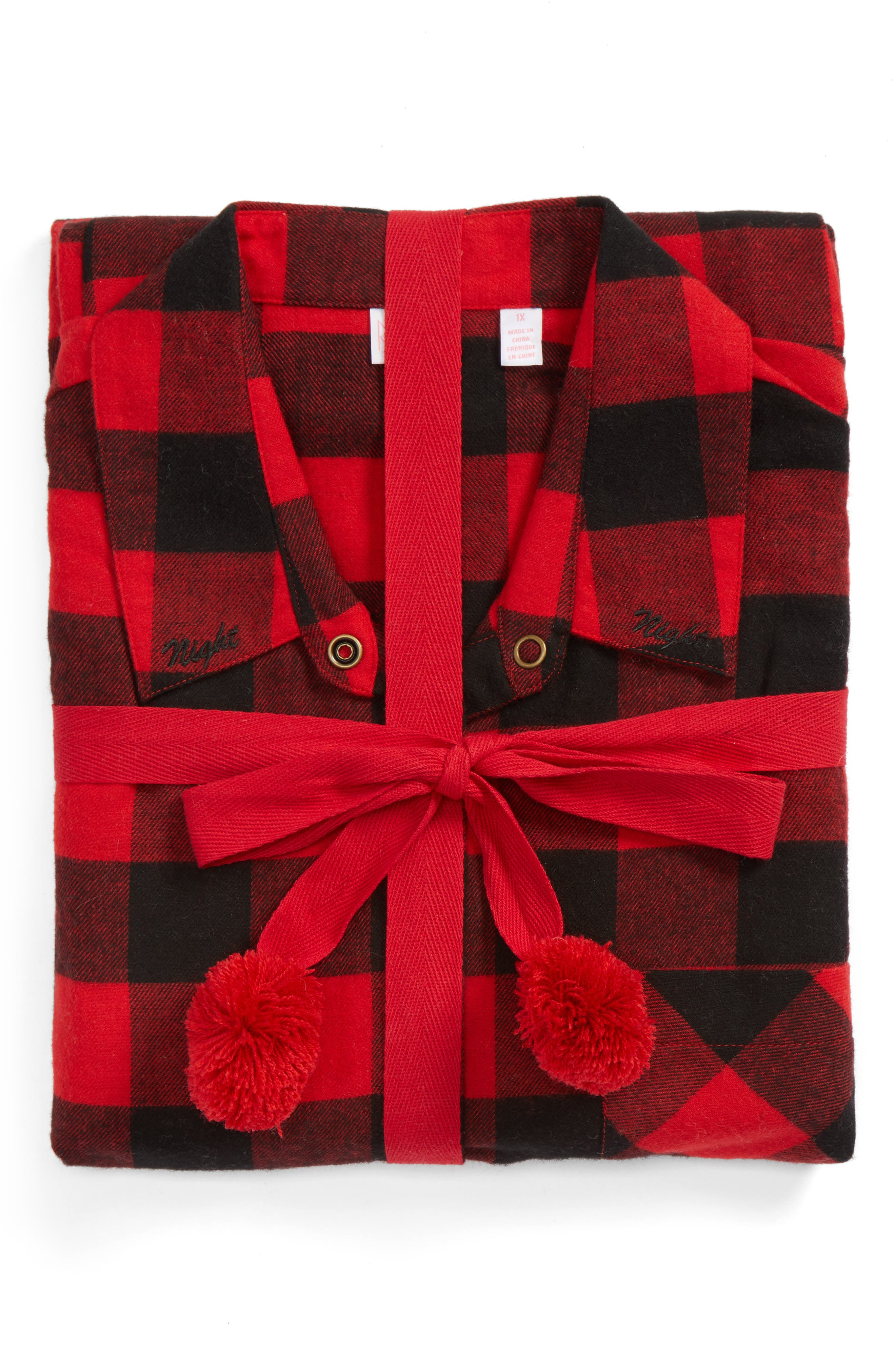 Flannel Pajamas,                             Alternate thumbnail 4, color,                             Red Pepper Buffalo Check