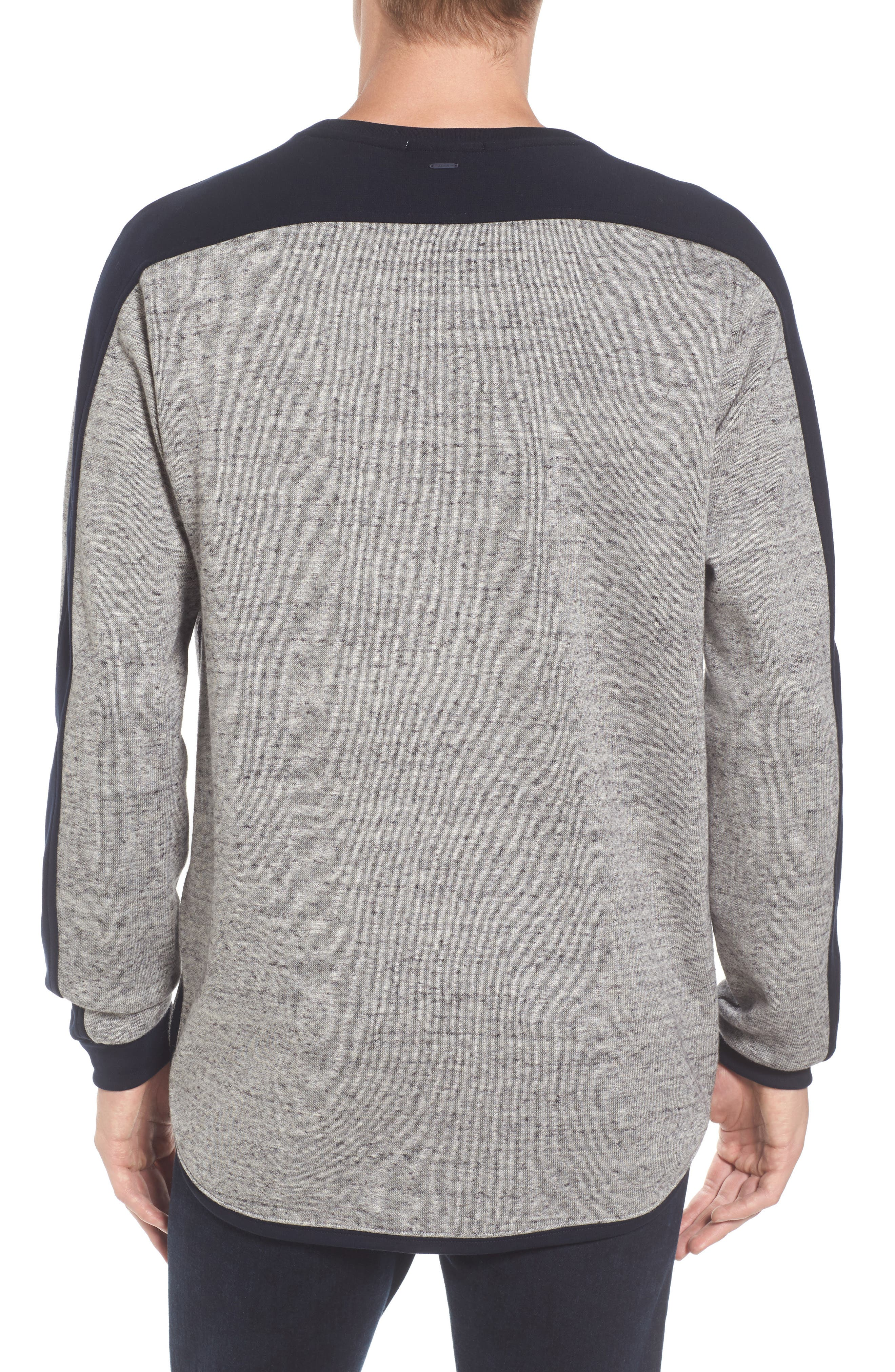 Panel Sweatshirt,                             Alternate thumbnail 2, color,                             Grey