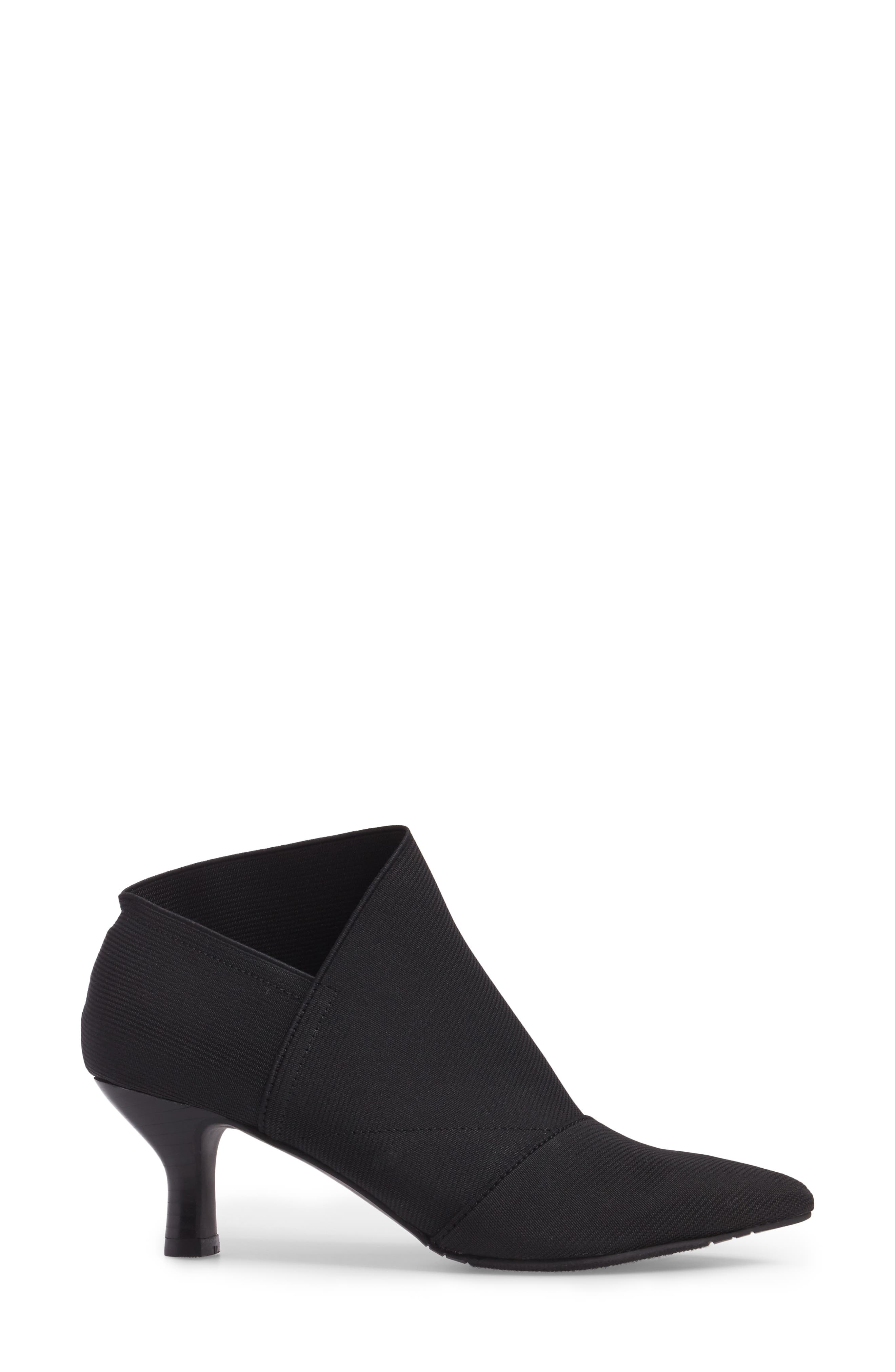 Hayes Pointy Toe Bootie,                             Alternate thumbnail 3, color,                             Black Fabric