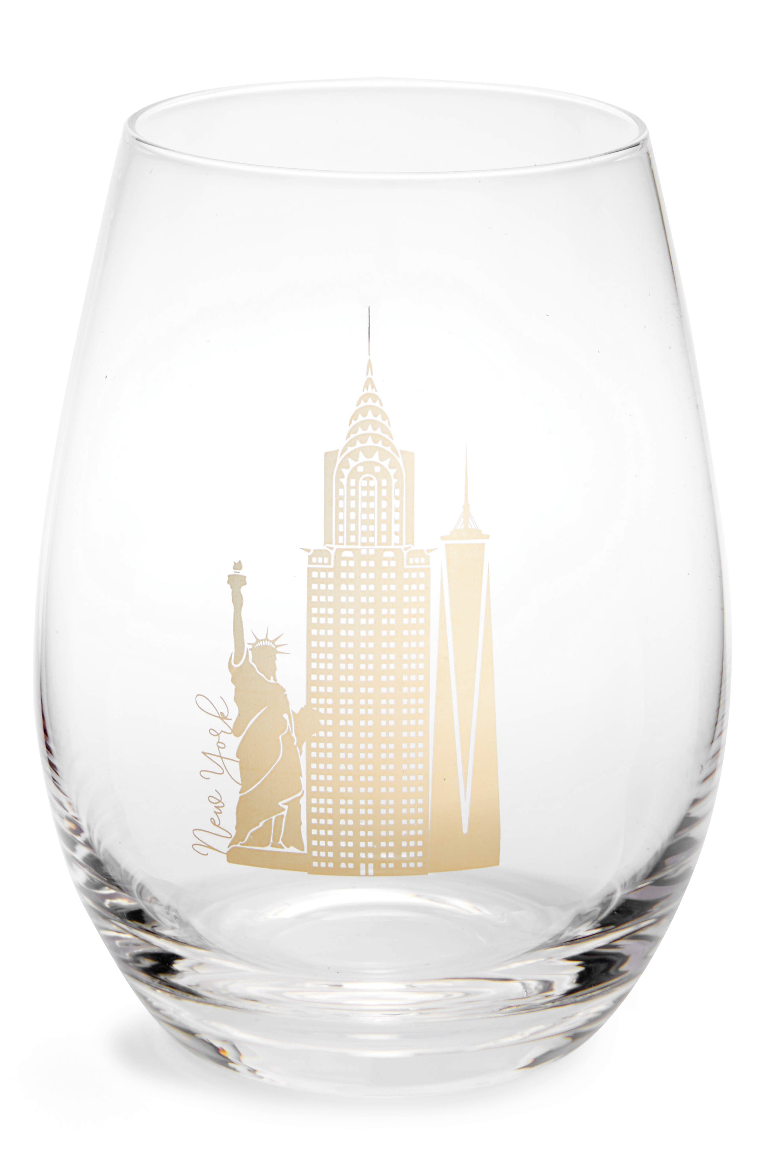 American Atelier City Skyline Stemless Wine Glass