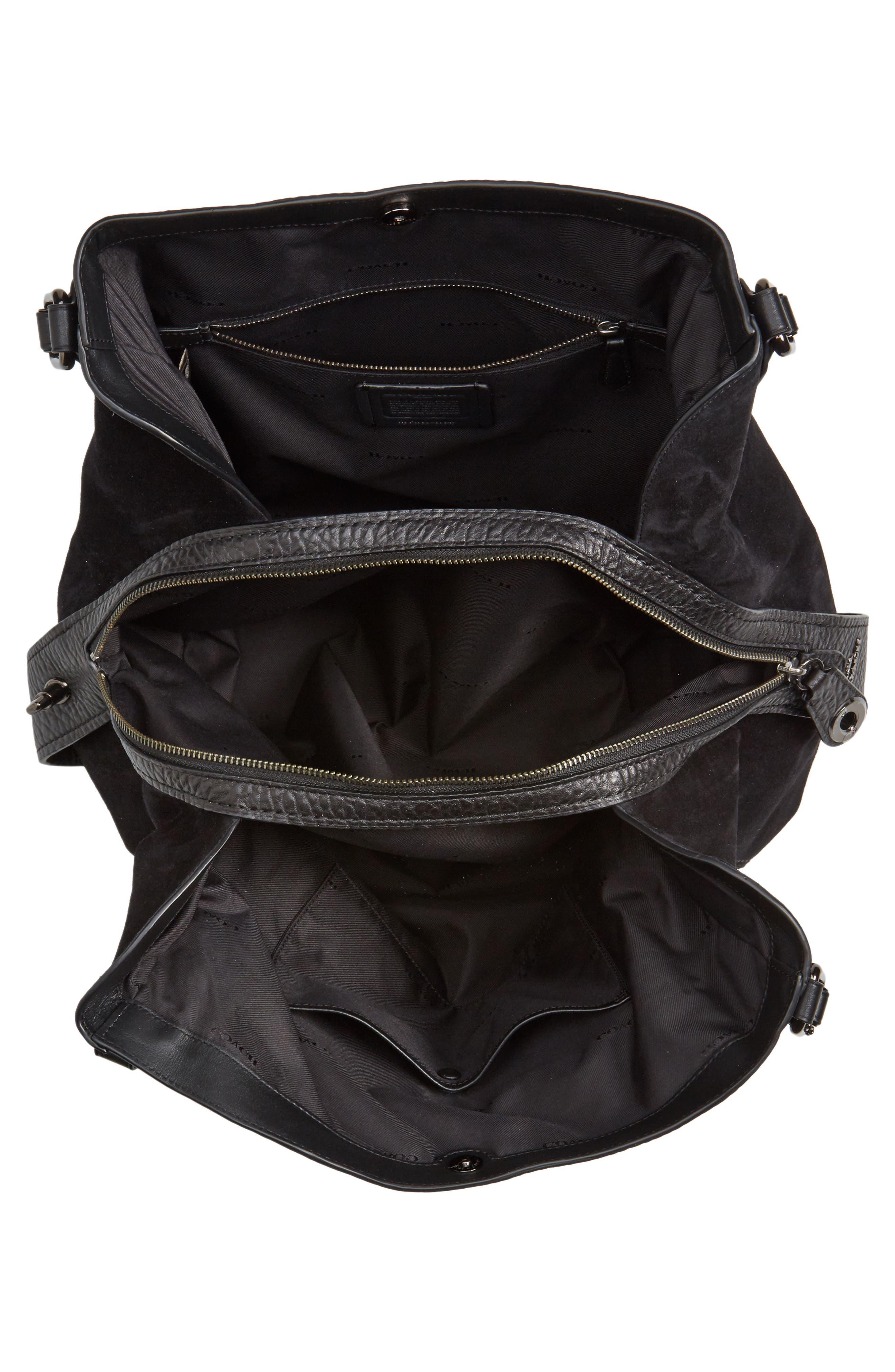 Alternate Image 4  - COACH Edie 42 Leather & Suede Shoulder Bag