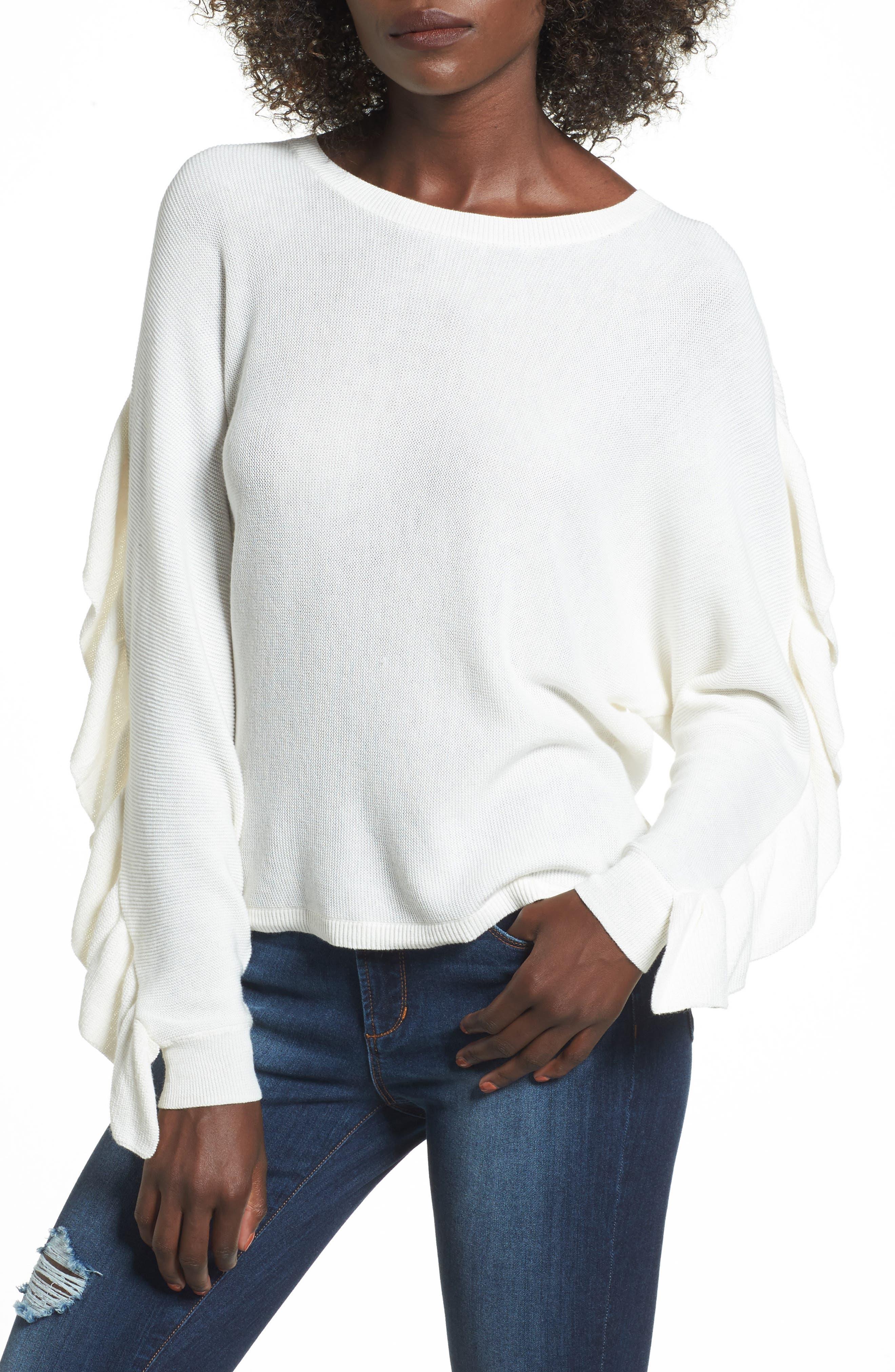 Leith Ruffle Sleeve Sweater