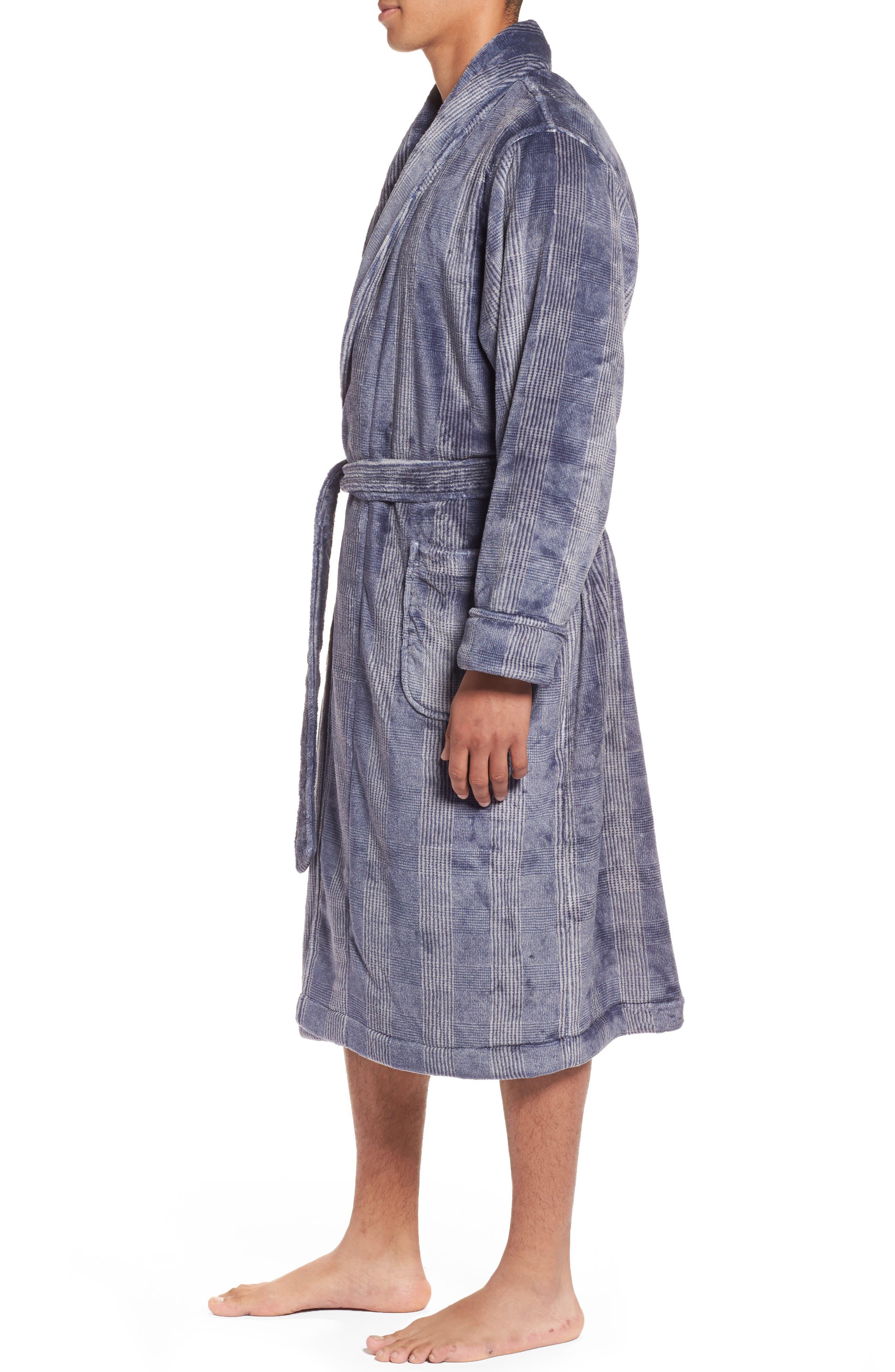 Alternate Image 3  - Nordstrom Men's Shop Glen Check Fleece Robe