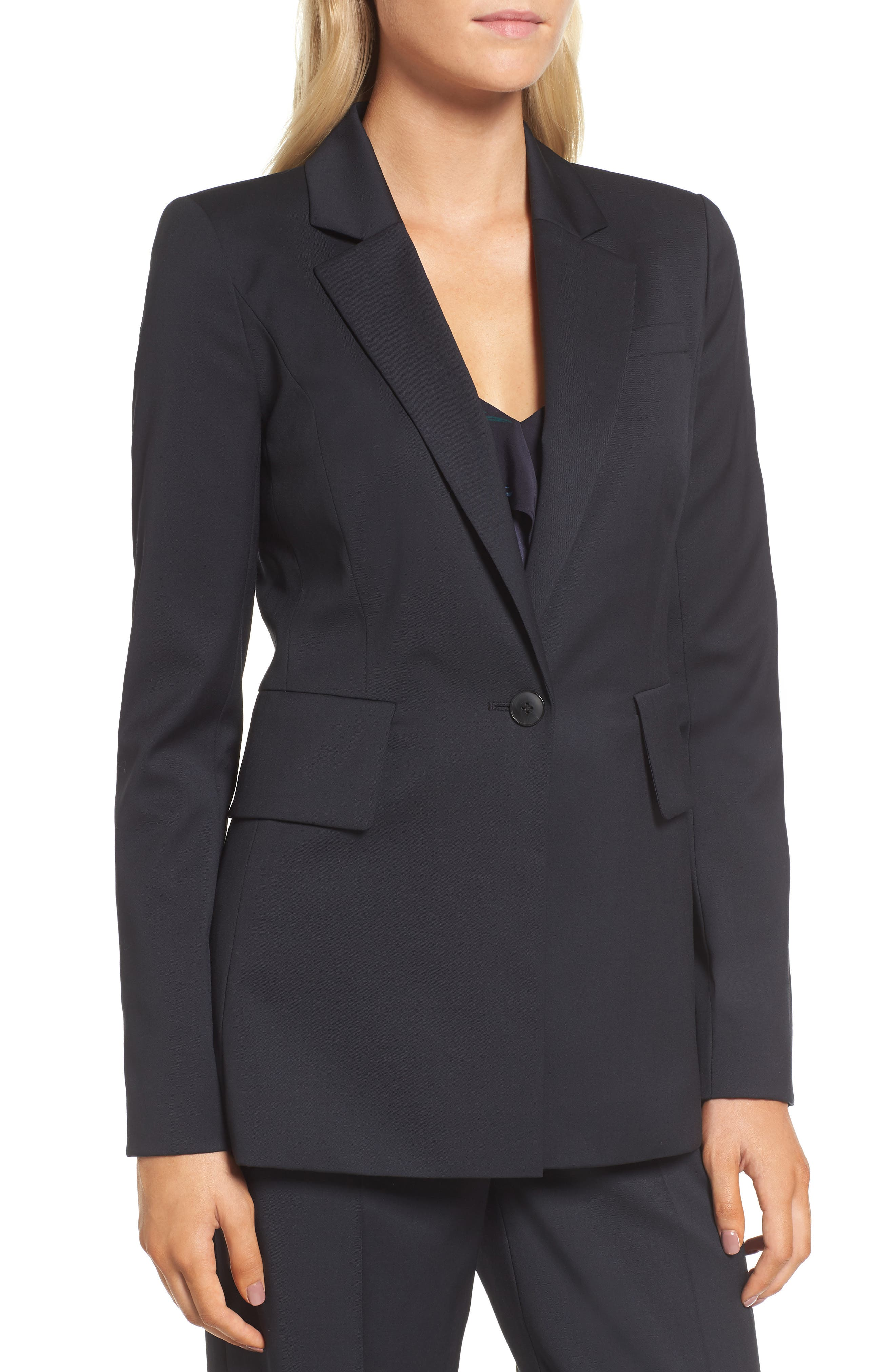 Alternate Image 4  - Lewit Square Shoulder Suit Jacket