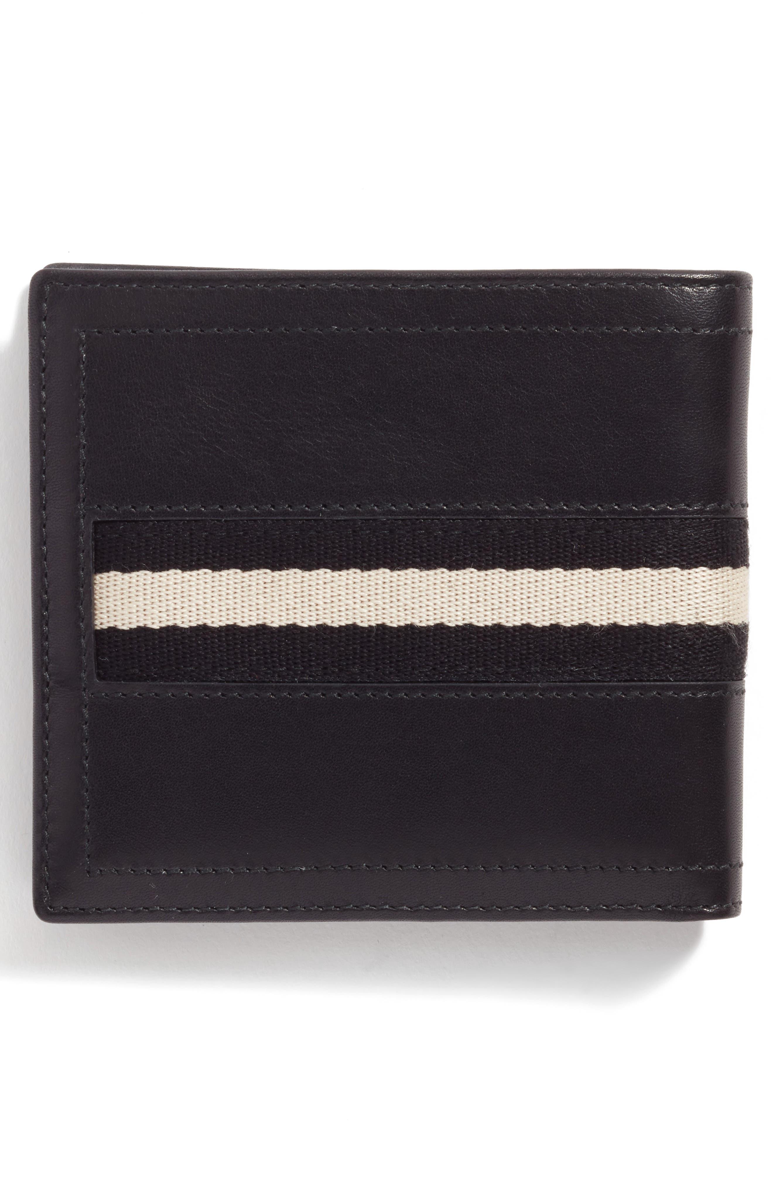 Leather Wallet and Belt Gift Set,                             Alternate thumbnail 3, color,                             Black