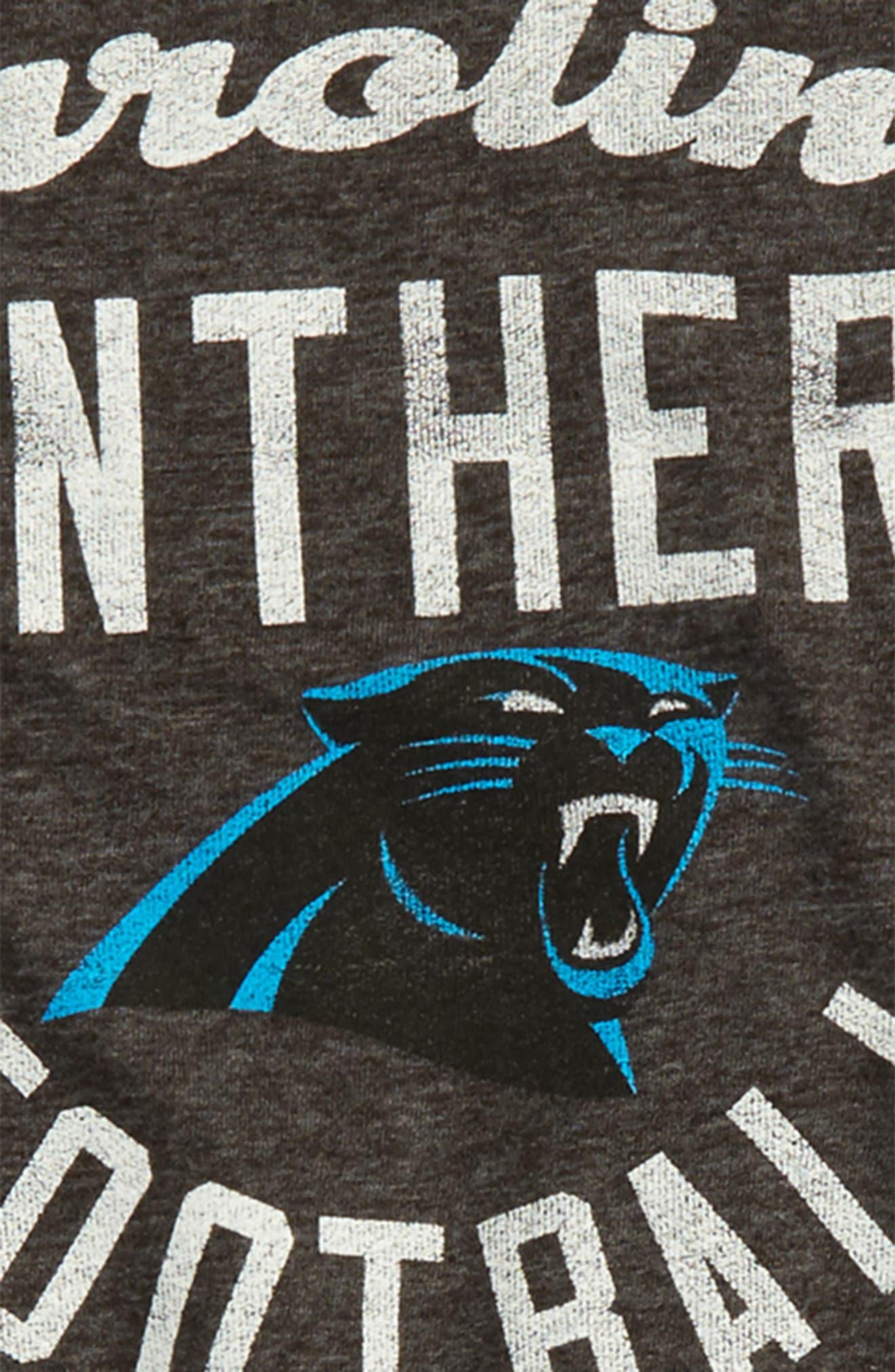 NFL Carolina Panthers Distressed Logo T-Shirt,                             Alternate thumbnail 2, color,                             Black