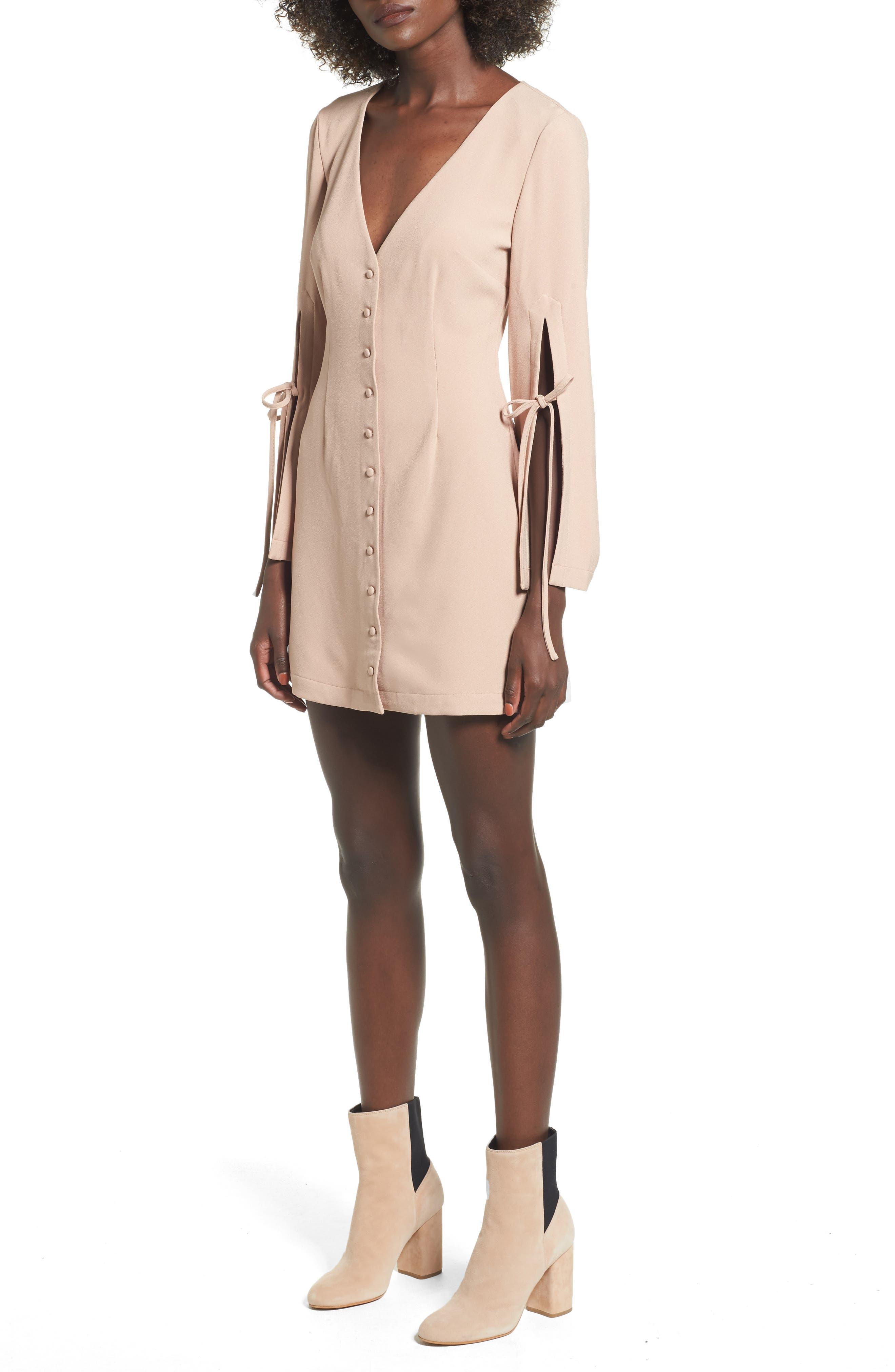 The Fifth Label Jeanne Split Sleeve Minidress