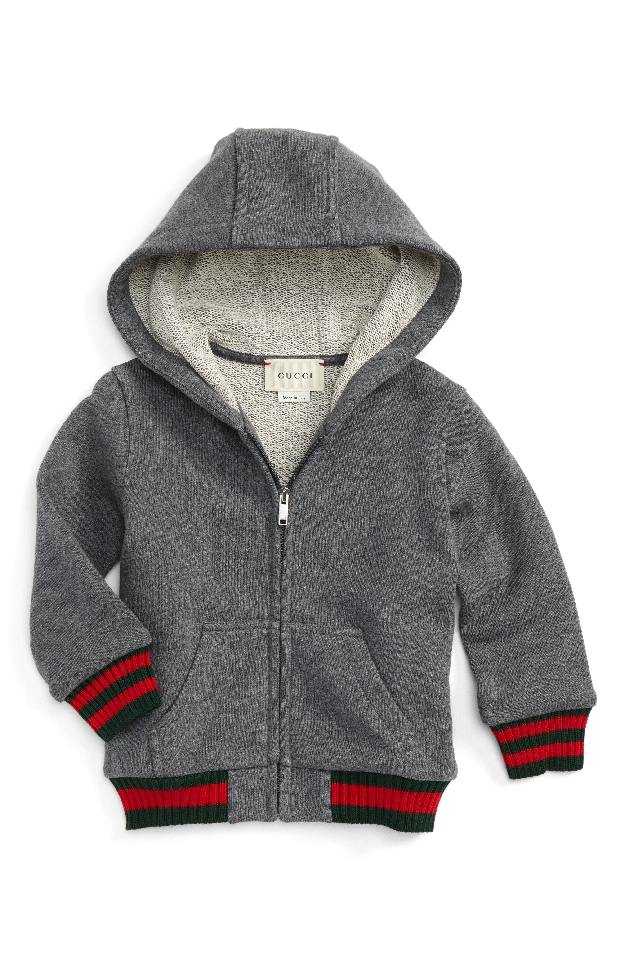 Alternate Image 1 Selected - Gucci Felted Jersey Hoodie (Baby)
