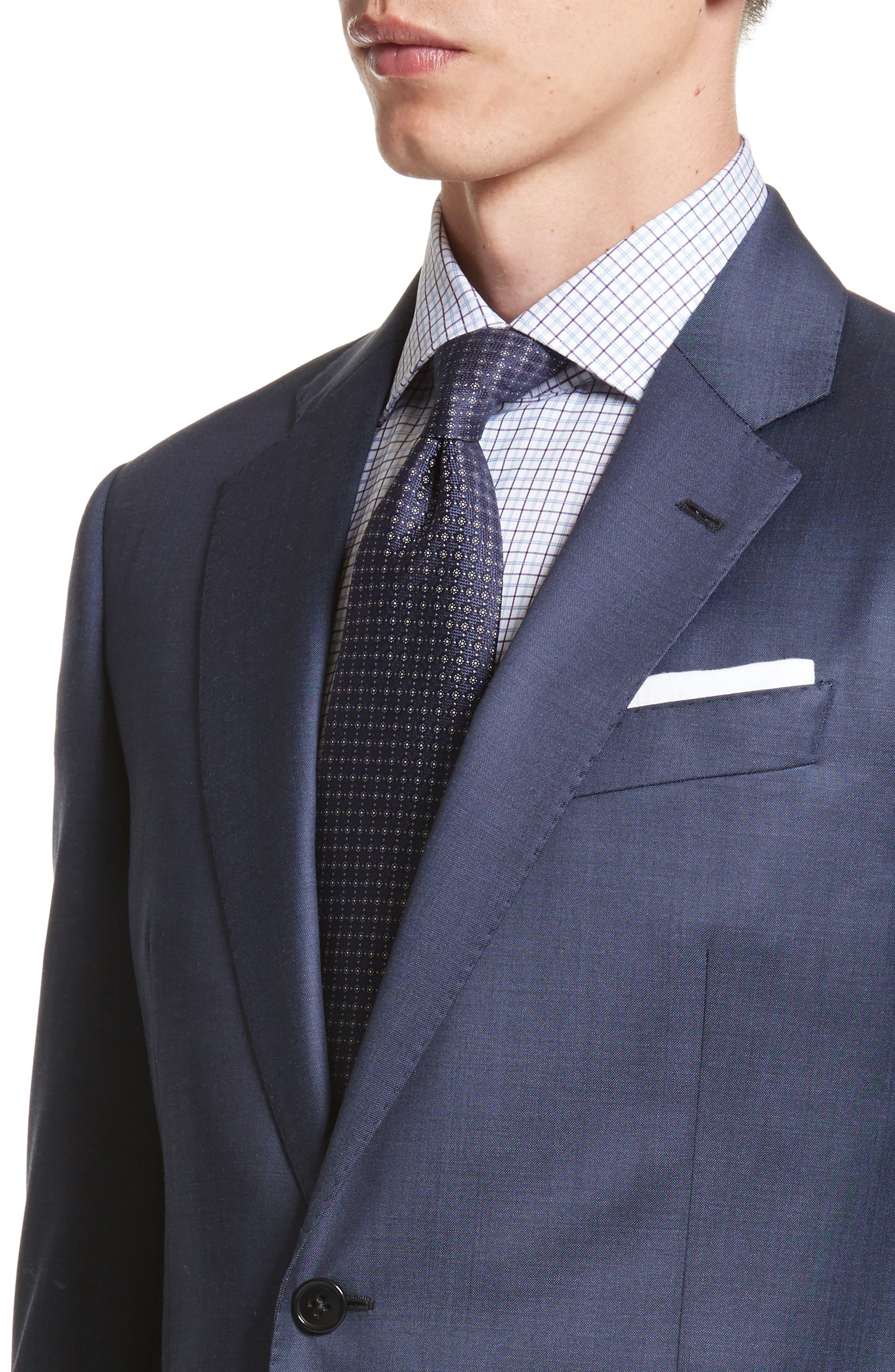 Alternate Image 4  - Armani Collezioni G-Line Trim Fit Plaid Wool Suit