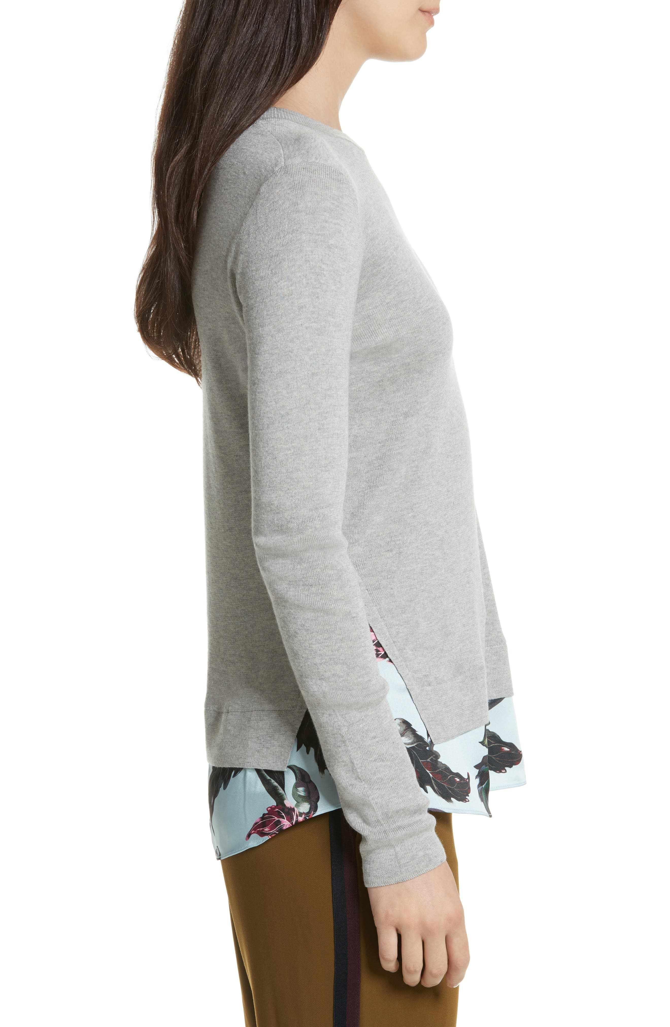 Karley Minerals Mockable Sweater,                             Alternate thumbnail 3, color,                             Light Grey