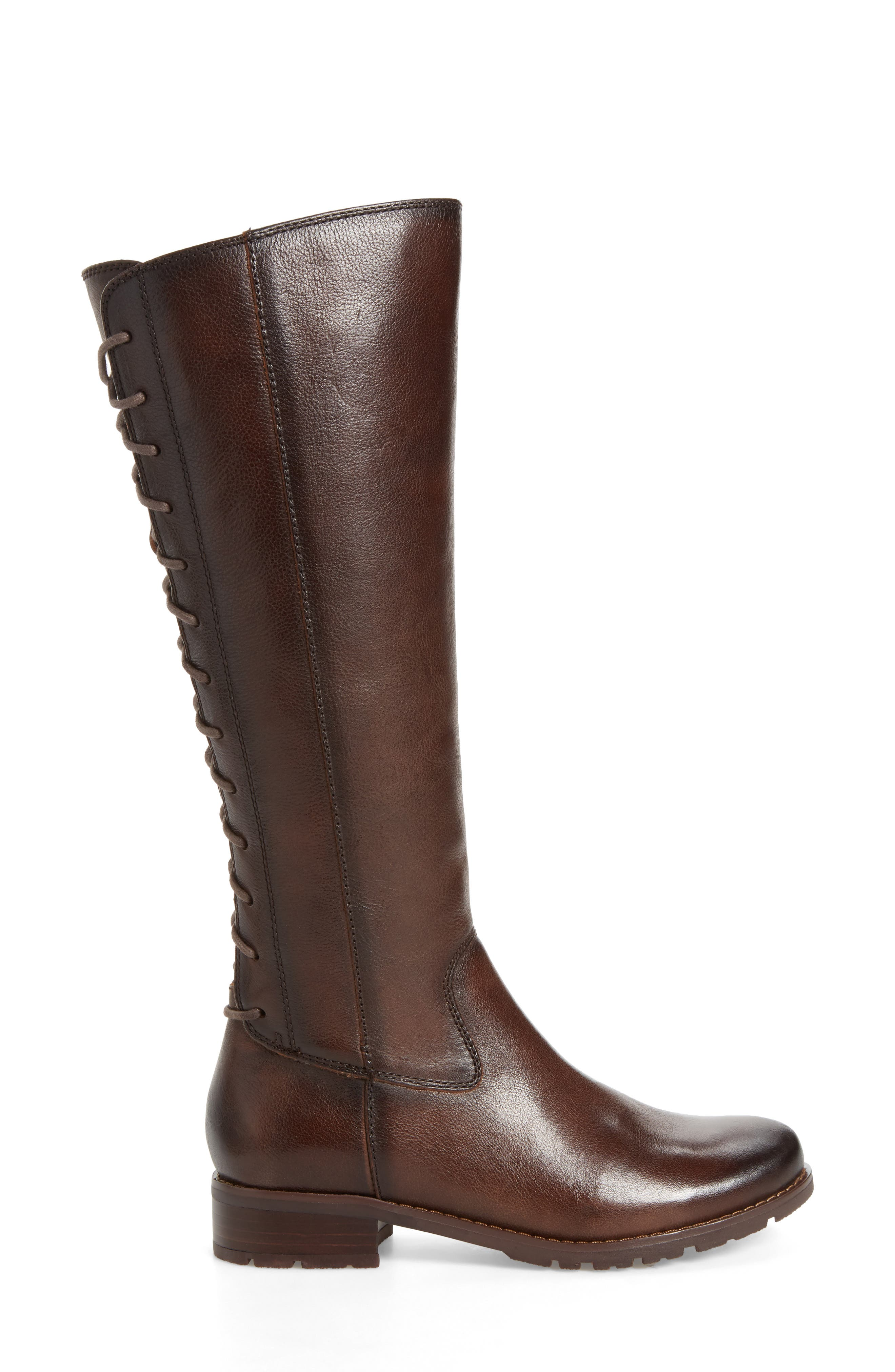 'Sharnell' Riding Boot,                             Alternate thumbnail 3, color,                             Aztec Brown Leather