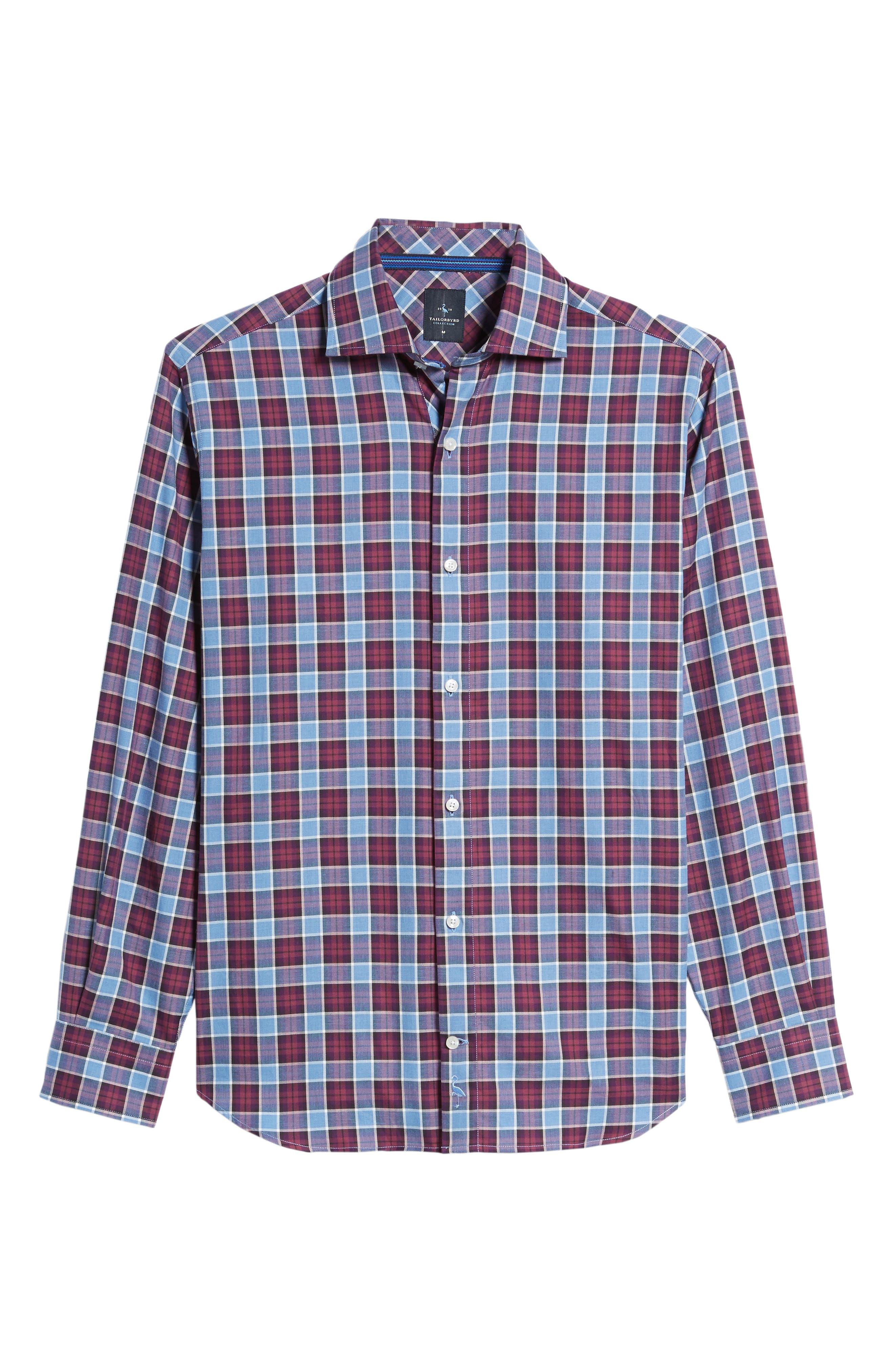 Campti Regular Fit Plaid Sport Shirt,                             Alternate thumbnail 6, color,                             Purple