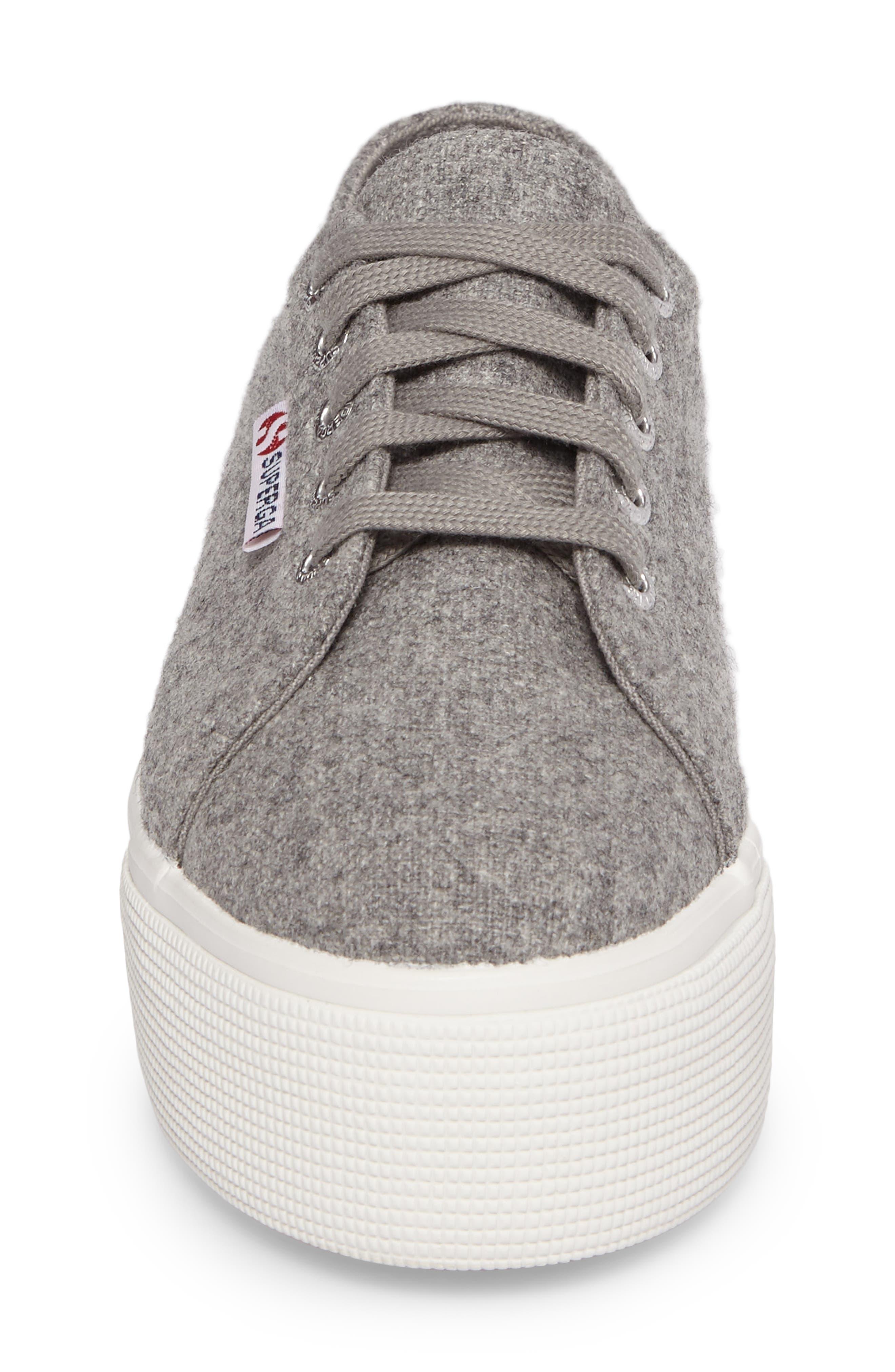2790 Platform Sneaker,                             Alternate thumbnail 4, color,                             Light Grey Canvas
