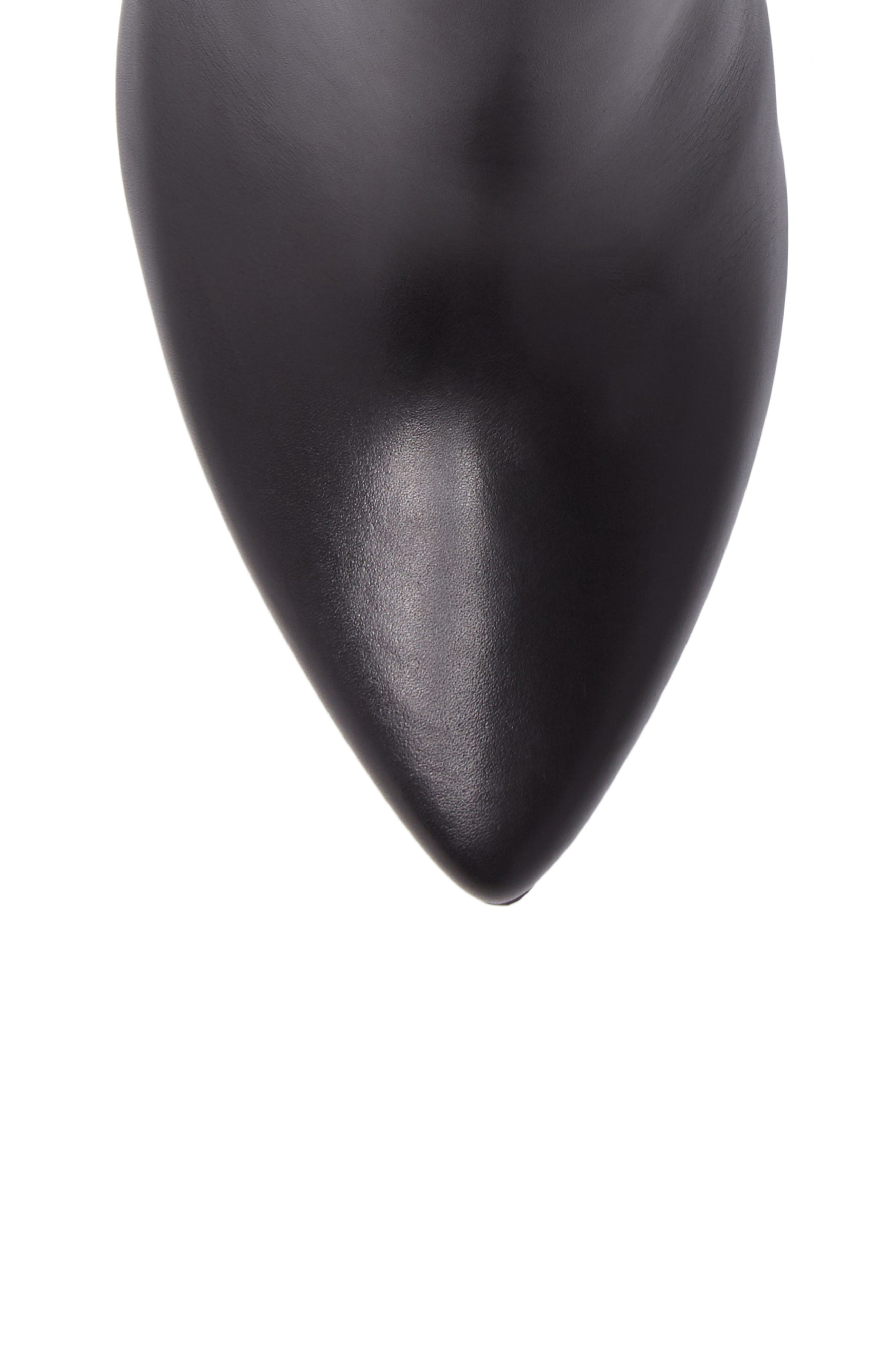 Maria Pointy Toe Bootie,                             Alternate thumbnail 5, color,                             Black Leather