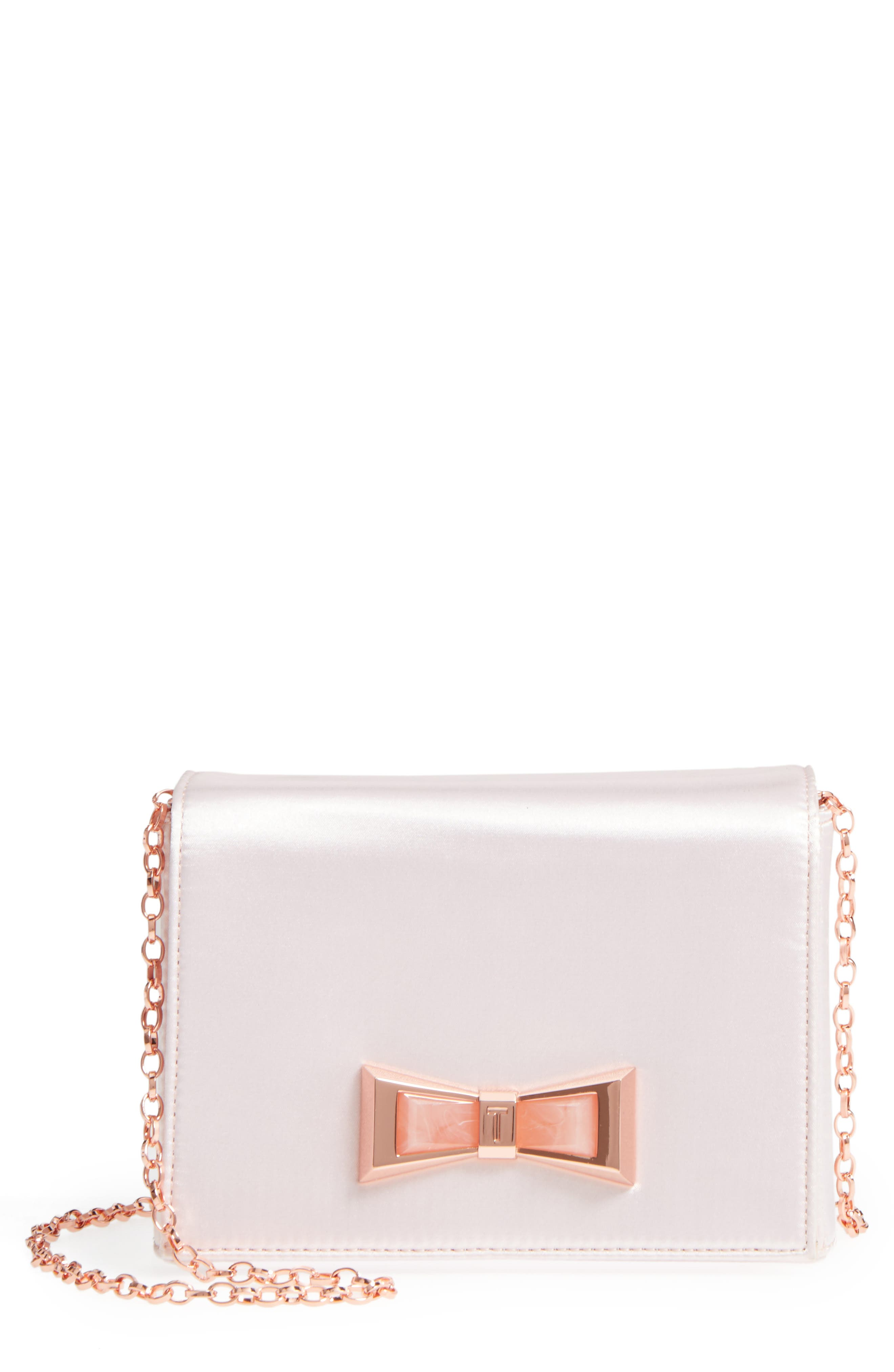 Main Image - Ted Baker London Maxine Satin Clutch