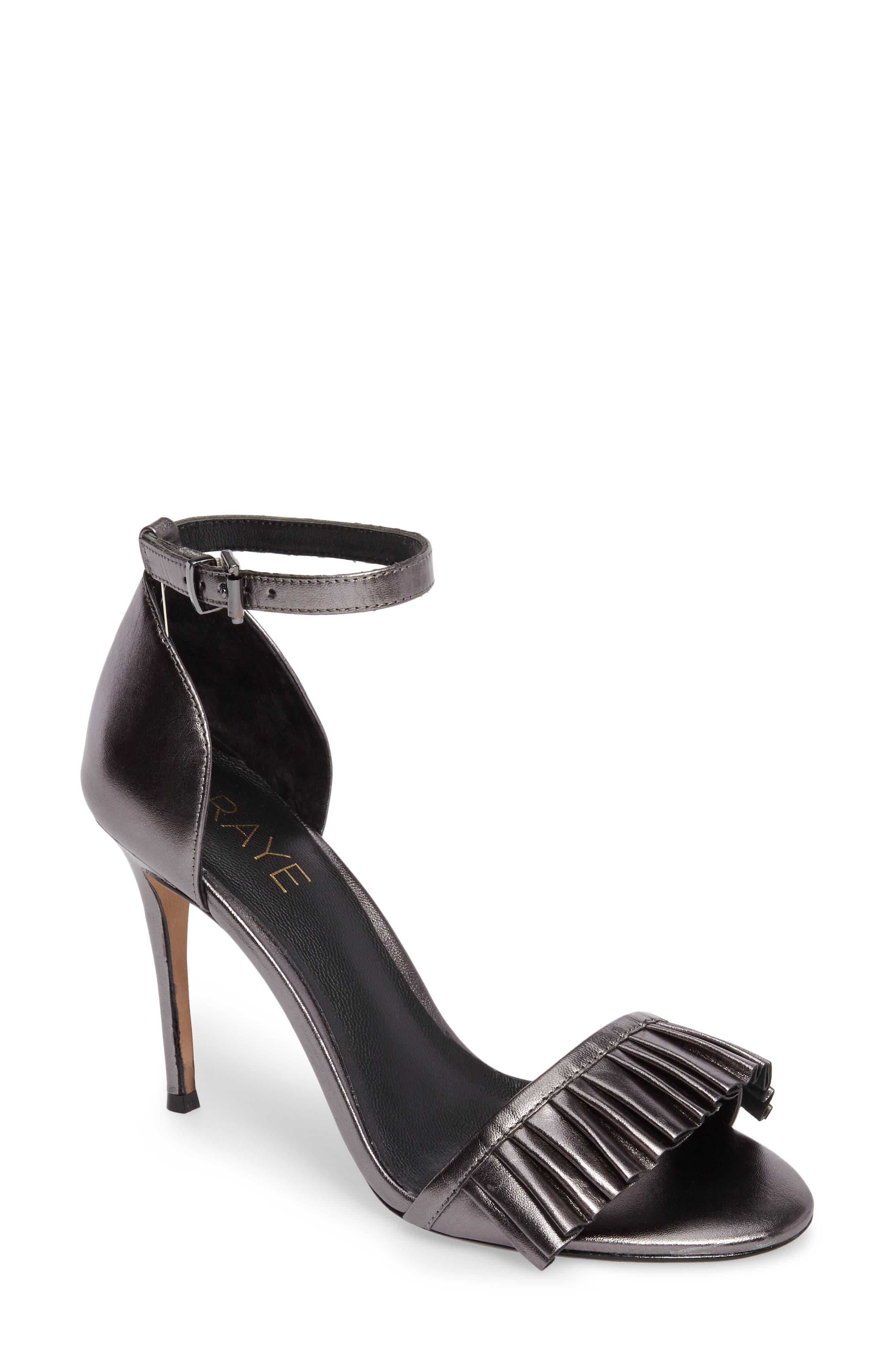 Raye Belle Ruffle Ankle Strap Sandal (Women)