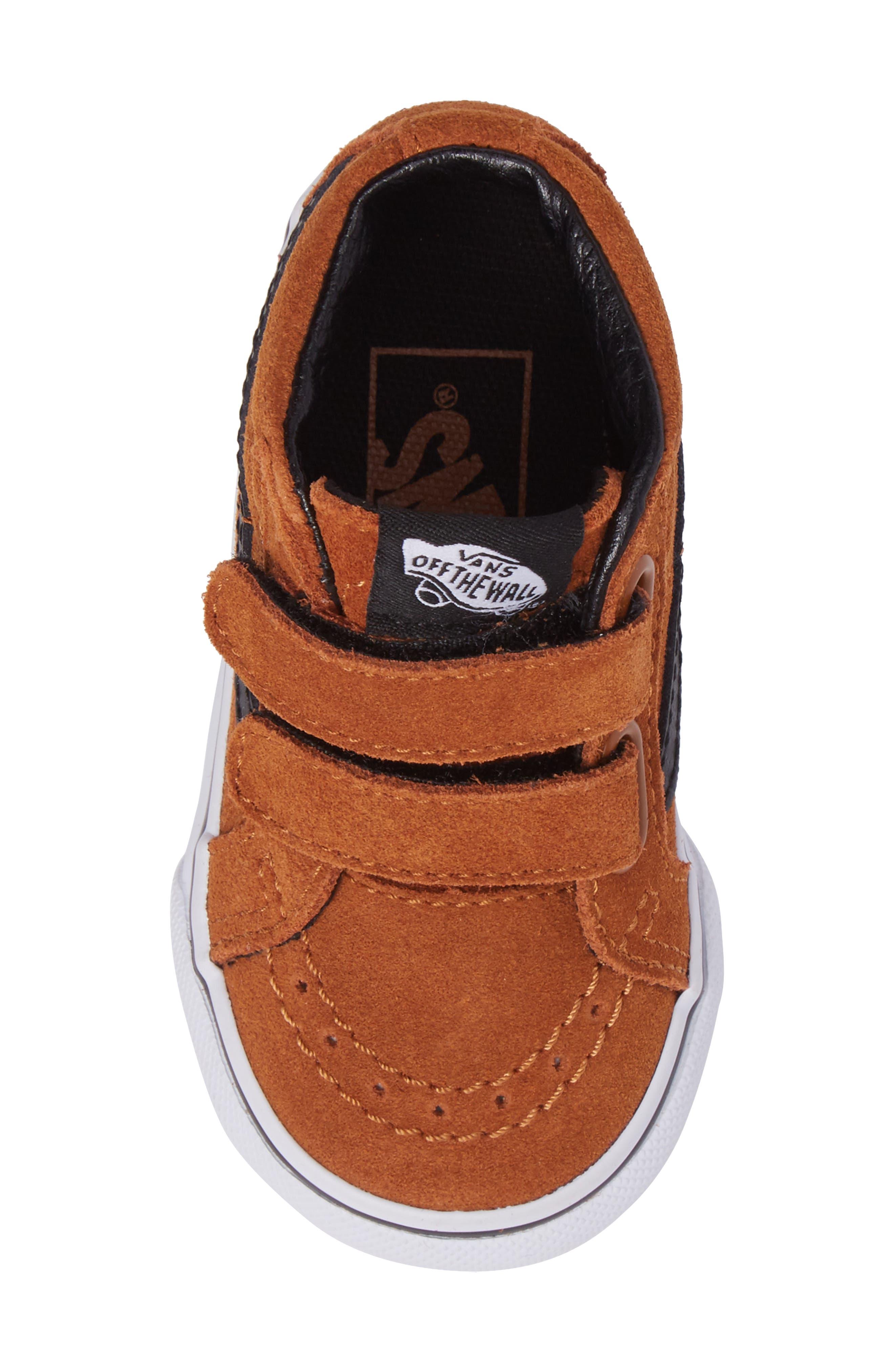 SK8-Mid Reissue Sneaker,                             Alternate thumbnail 5, color,                             Glazed Ginger/ Black