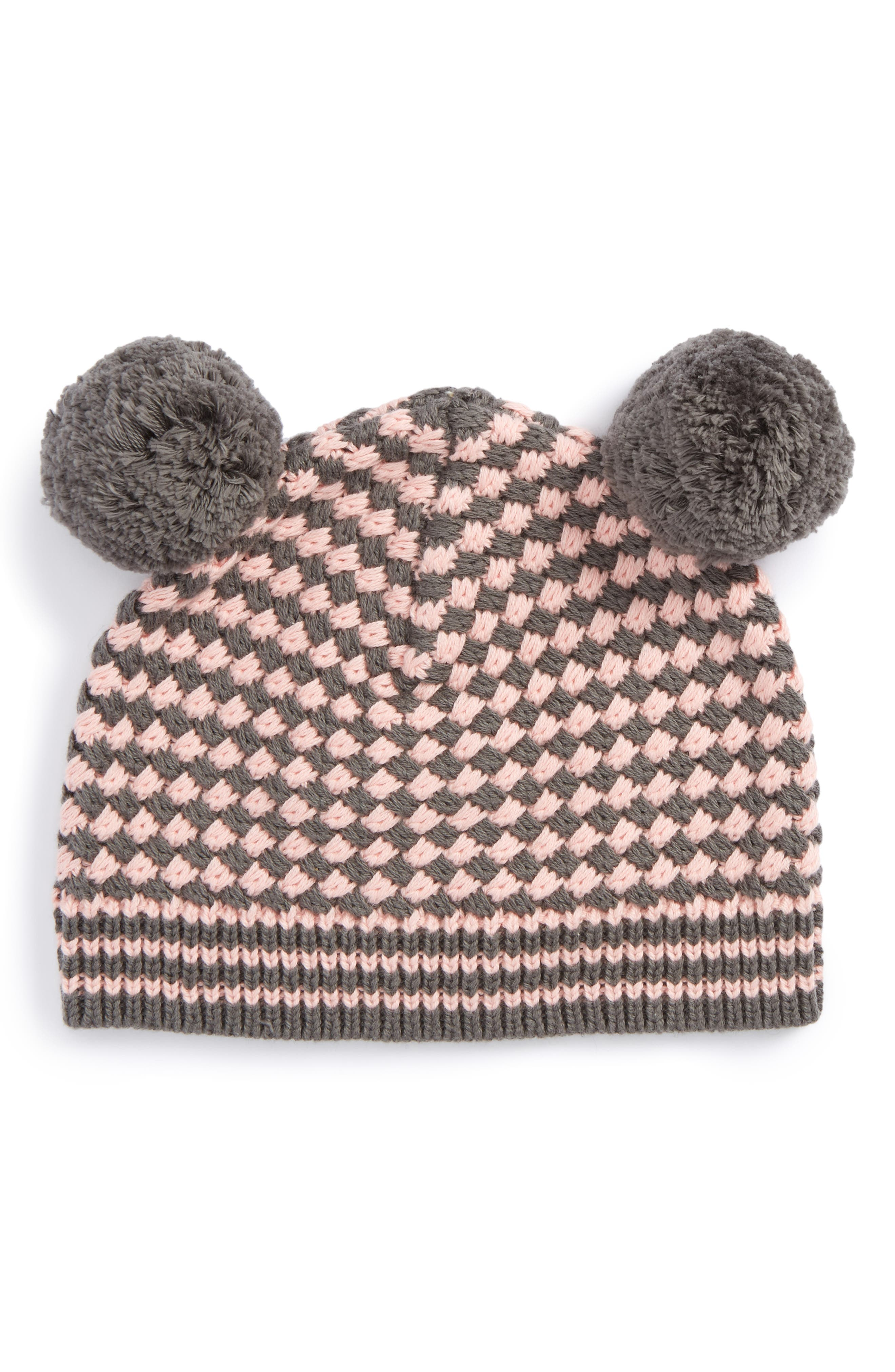Tucker + Tate Leah Double Pompom Knit Hat (Baby Girls & Toddler Girls)