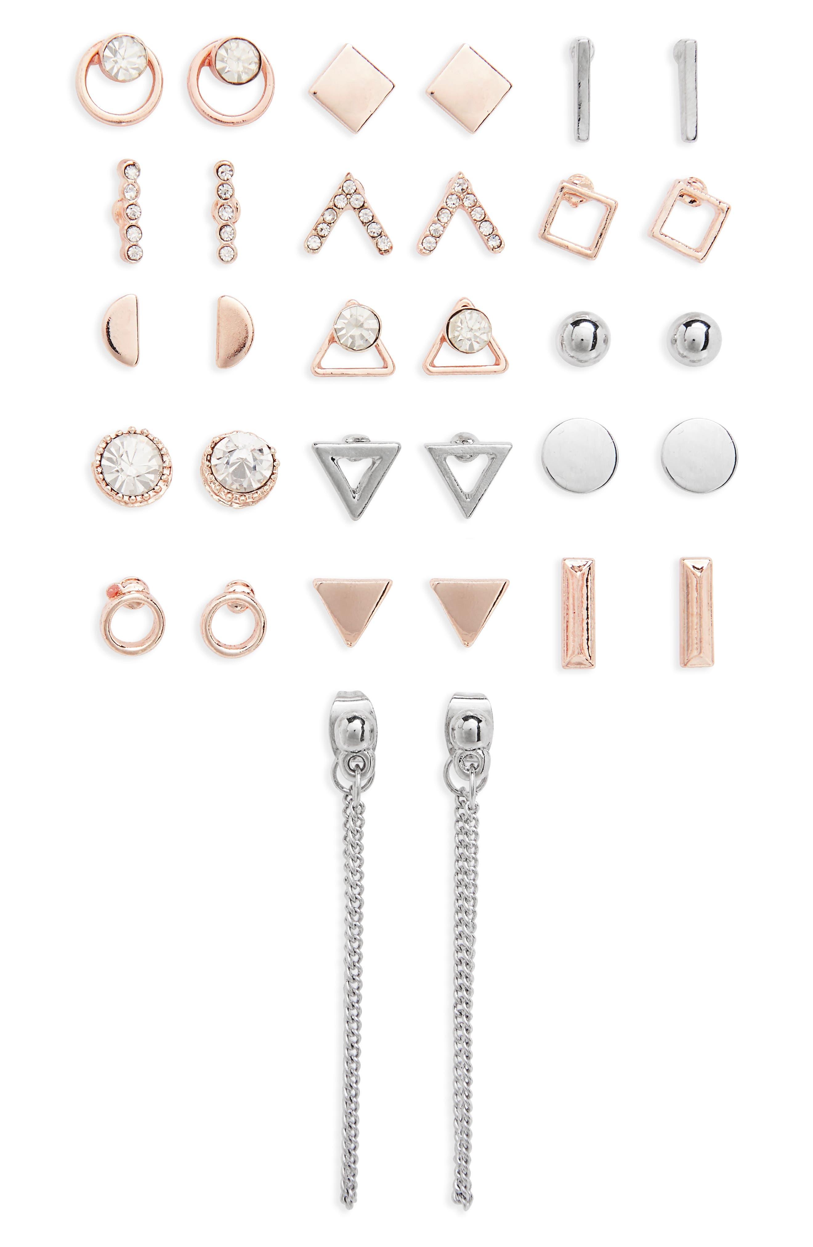 Topshop Mega Pack Geometric Earrings (16 Pairs)