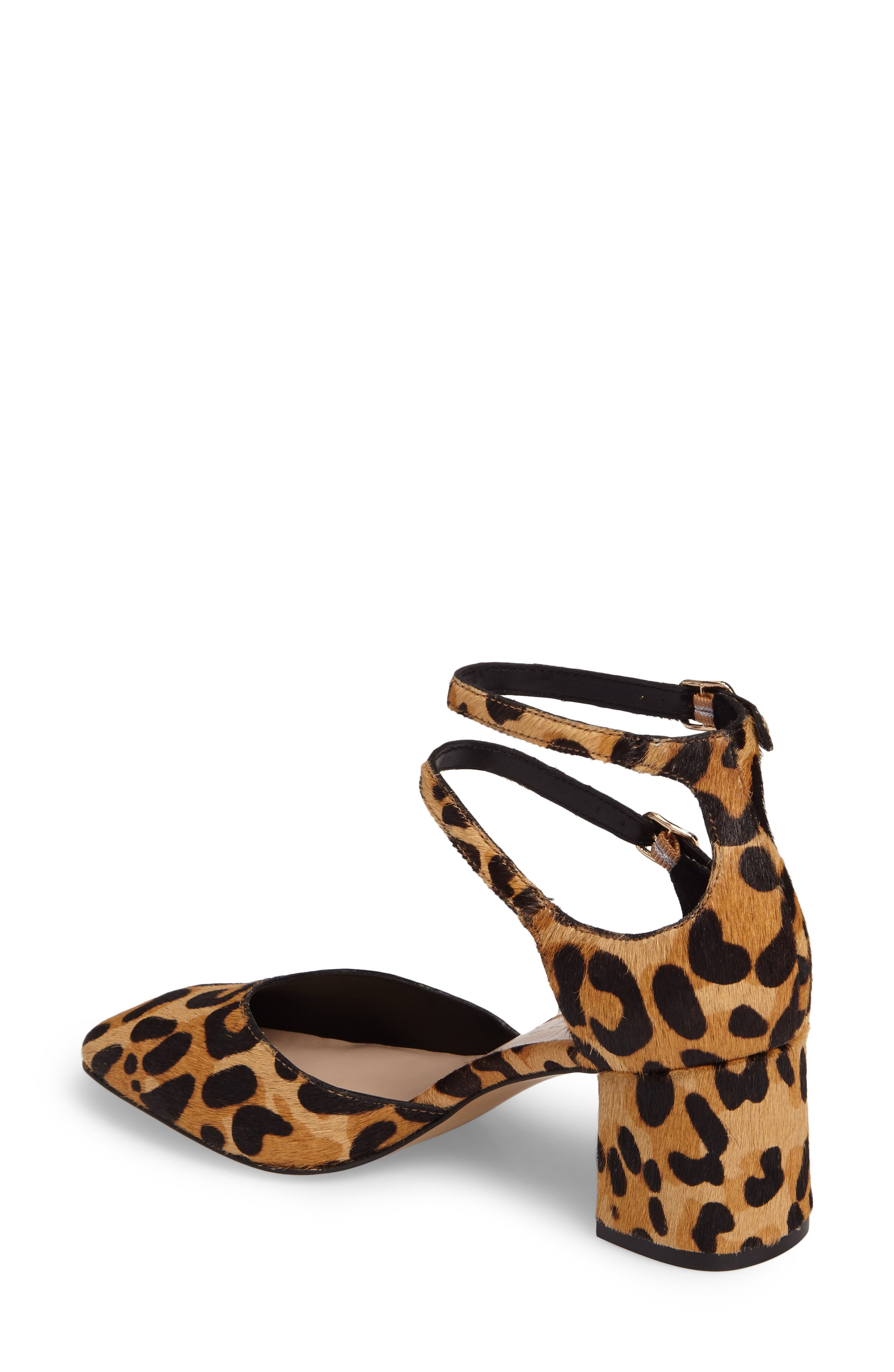 Selby Double Strap Pump,                             Alternate thumbnail 2, color,                             Leopard Haircalf