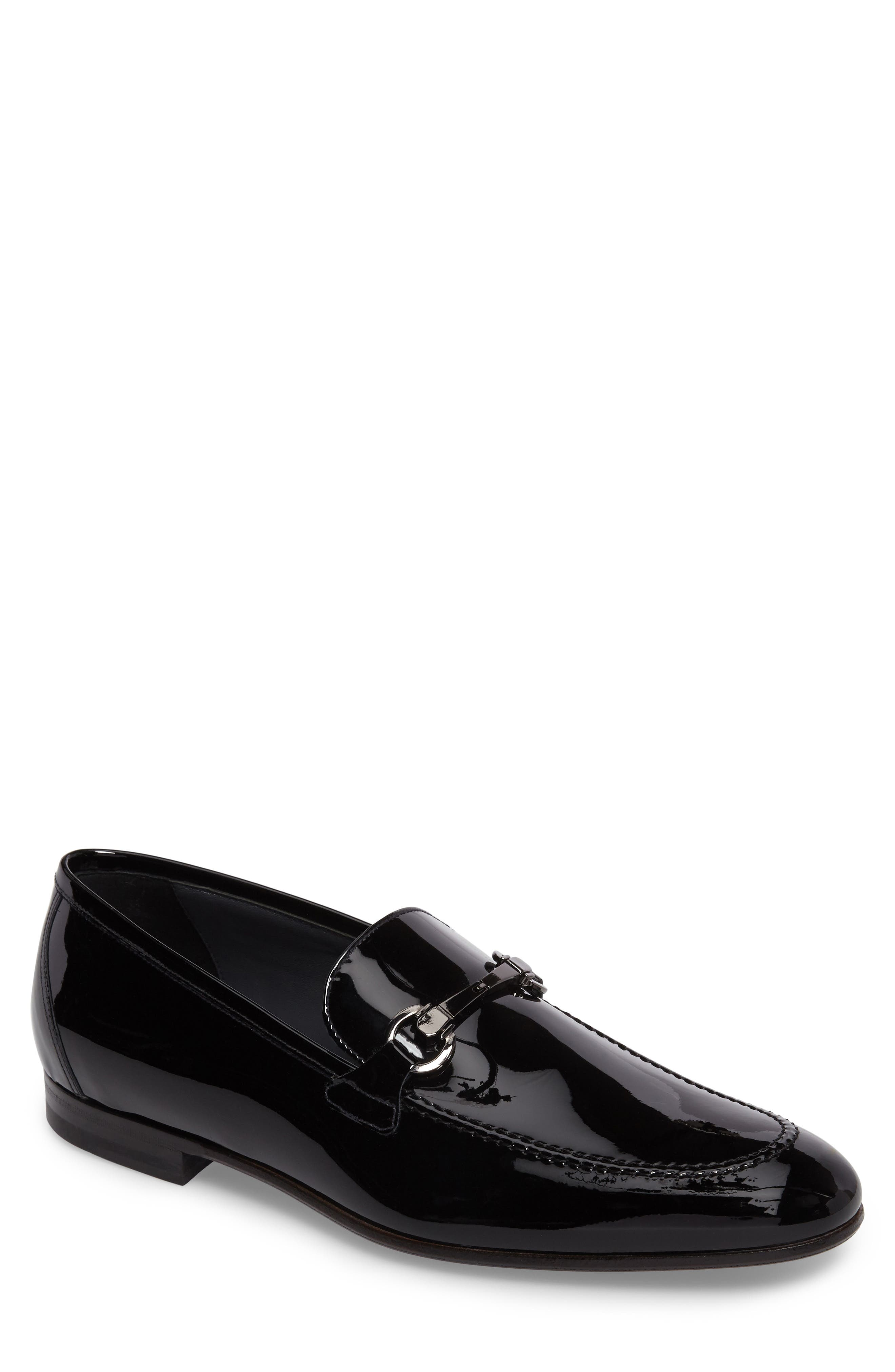 Brianza Bit Loafer,                             Main thumbnail 1, color,                             Black Patent Leather