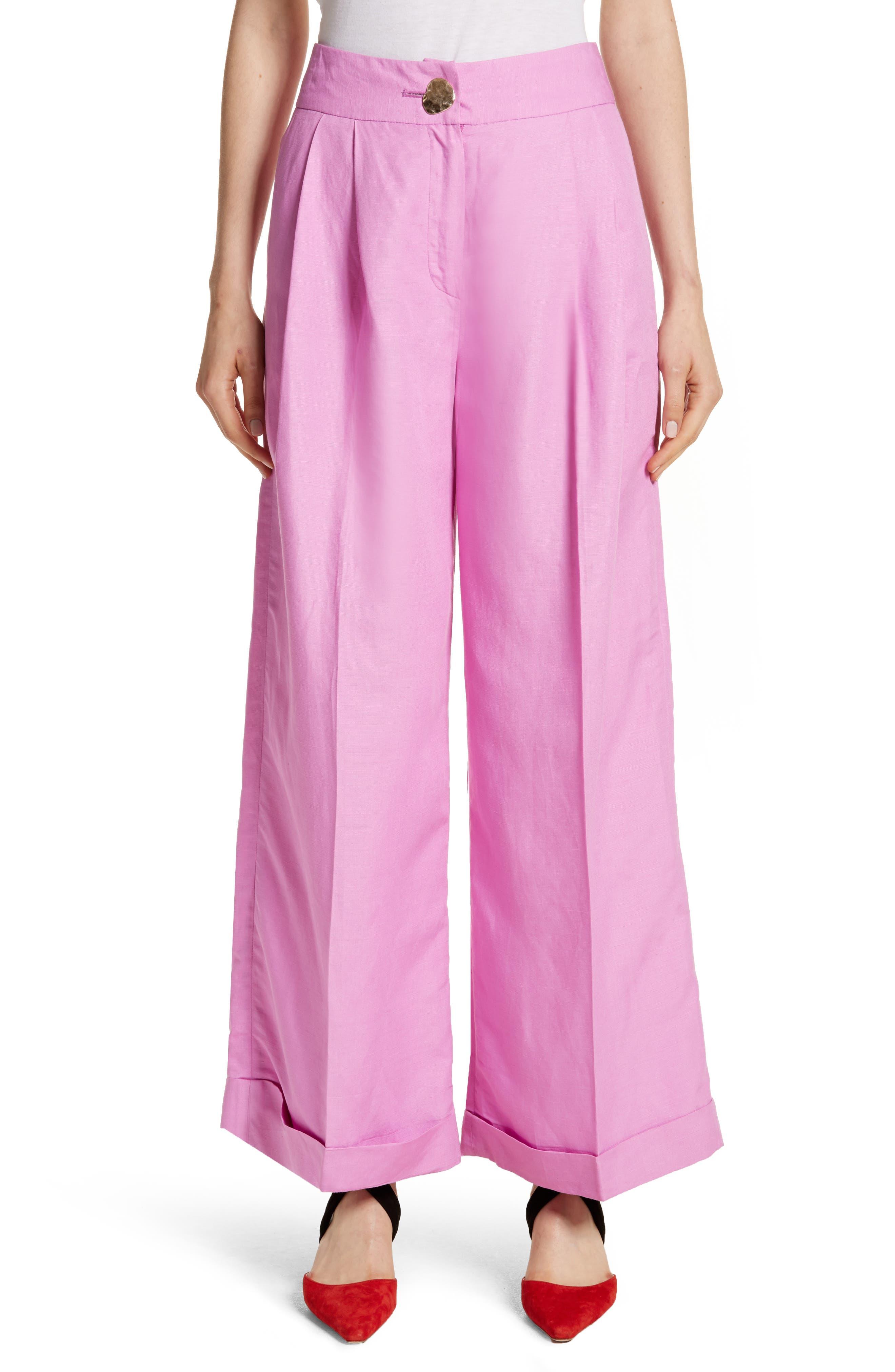 Rejina Pyo Wide Leg Rayon & Linen Pants