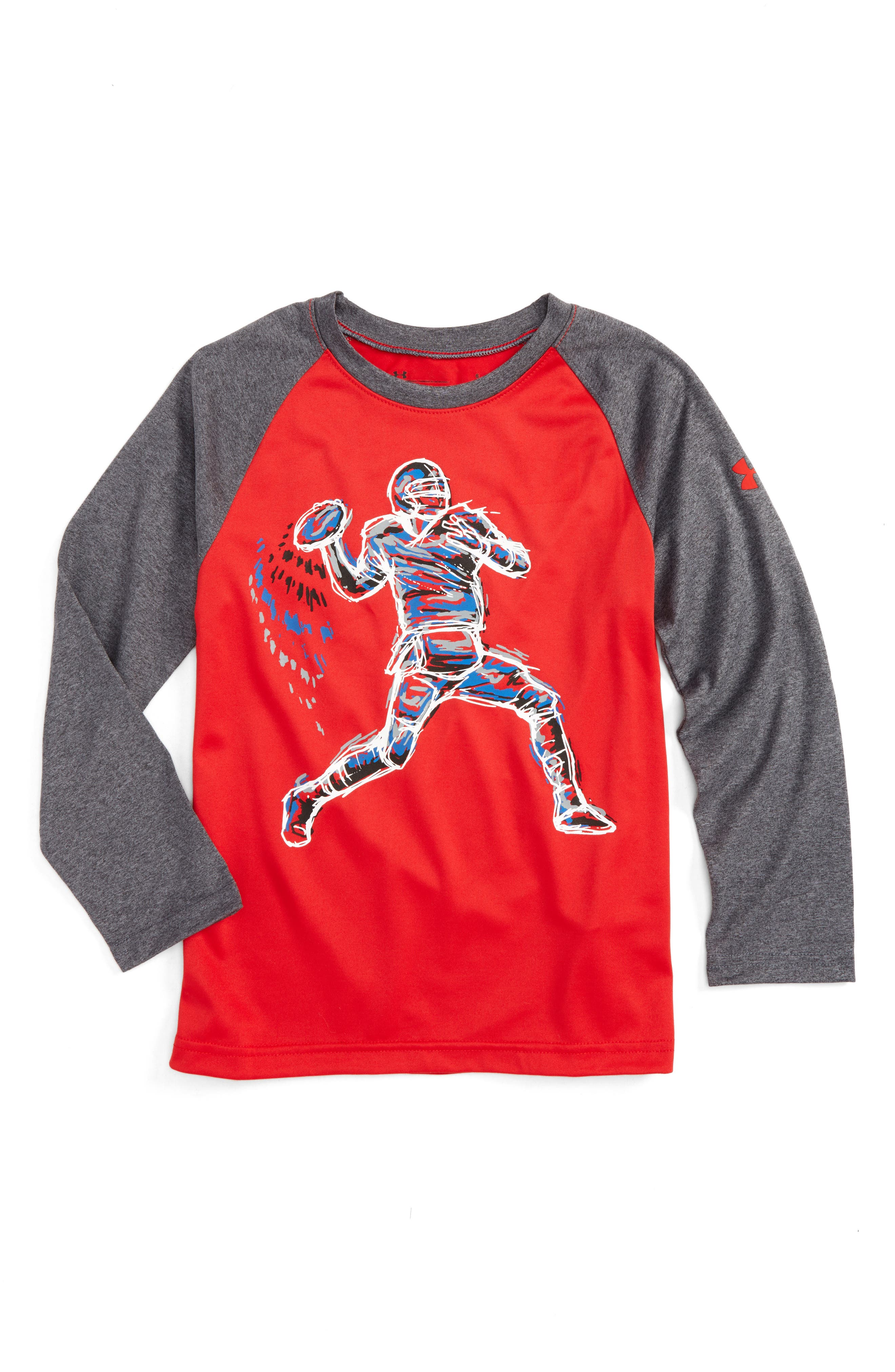 Illuminated QB Glow in the Dark T-Shirt,                         Main,                         color, Red