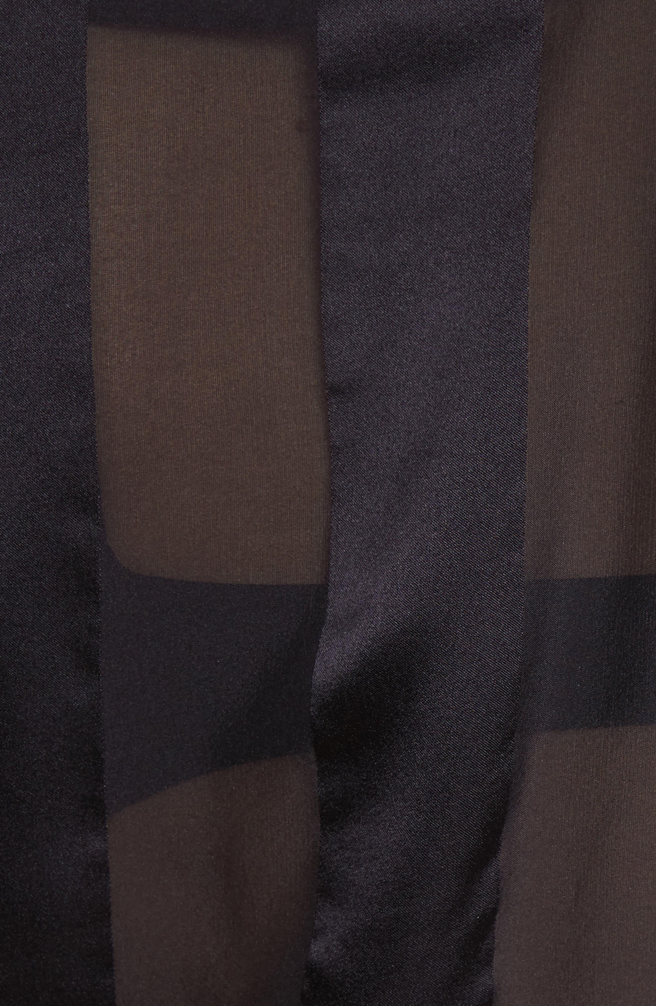 Dyanna Wrap Front Blouson Silk Top,                             Alternate thumbnail 5, color,                             Black