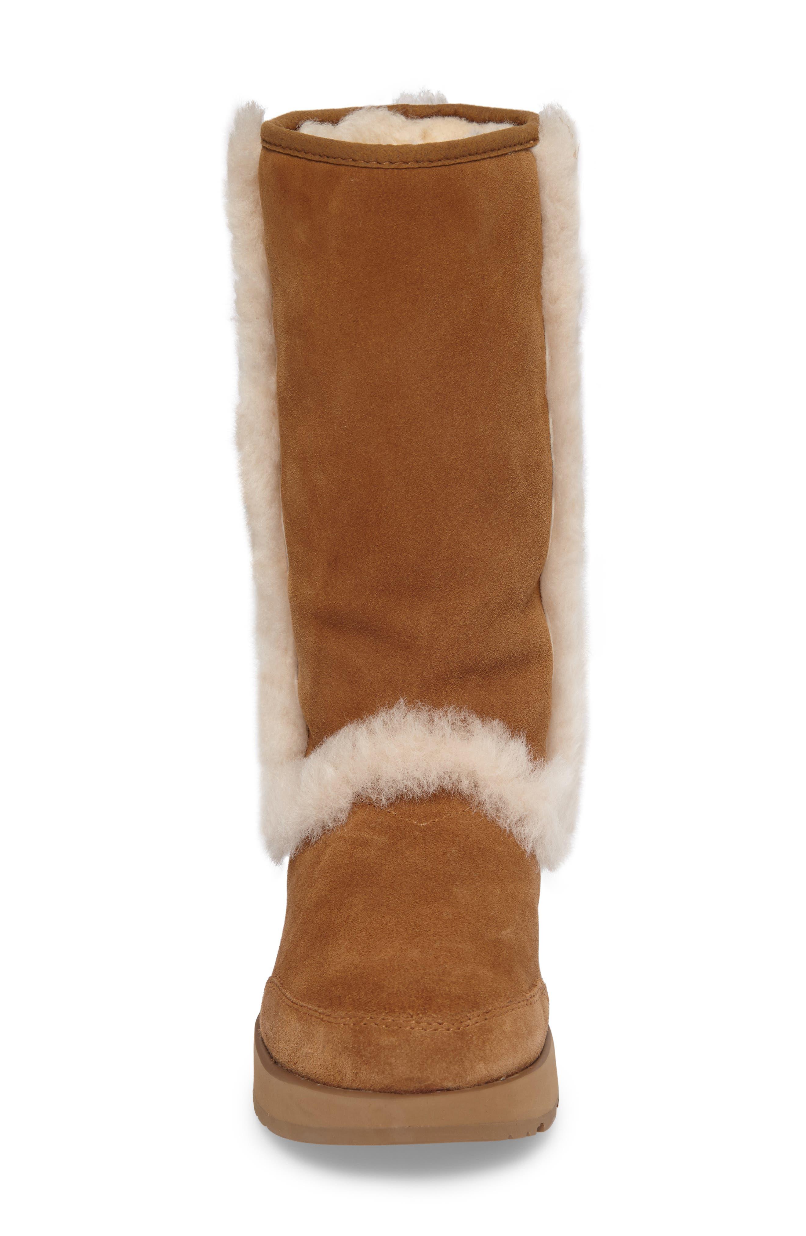 Alternate Image 4  - UGG® Sundance Genuine Shearling Waterproof Boot (Women)