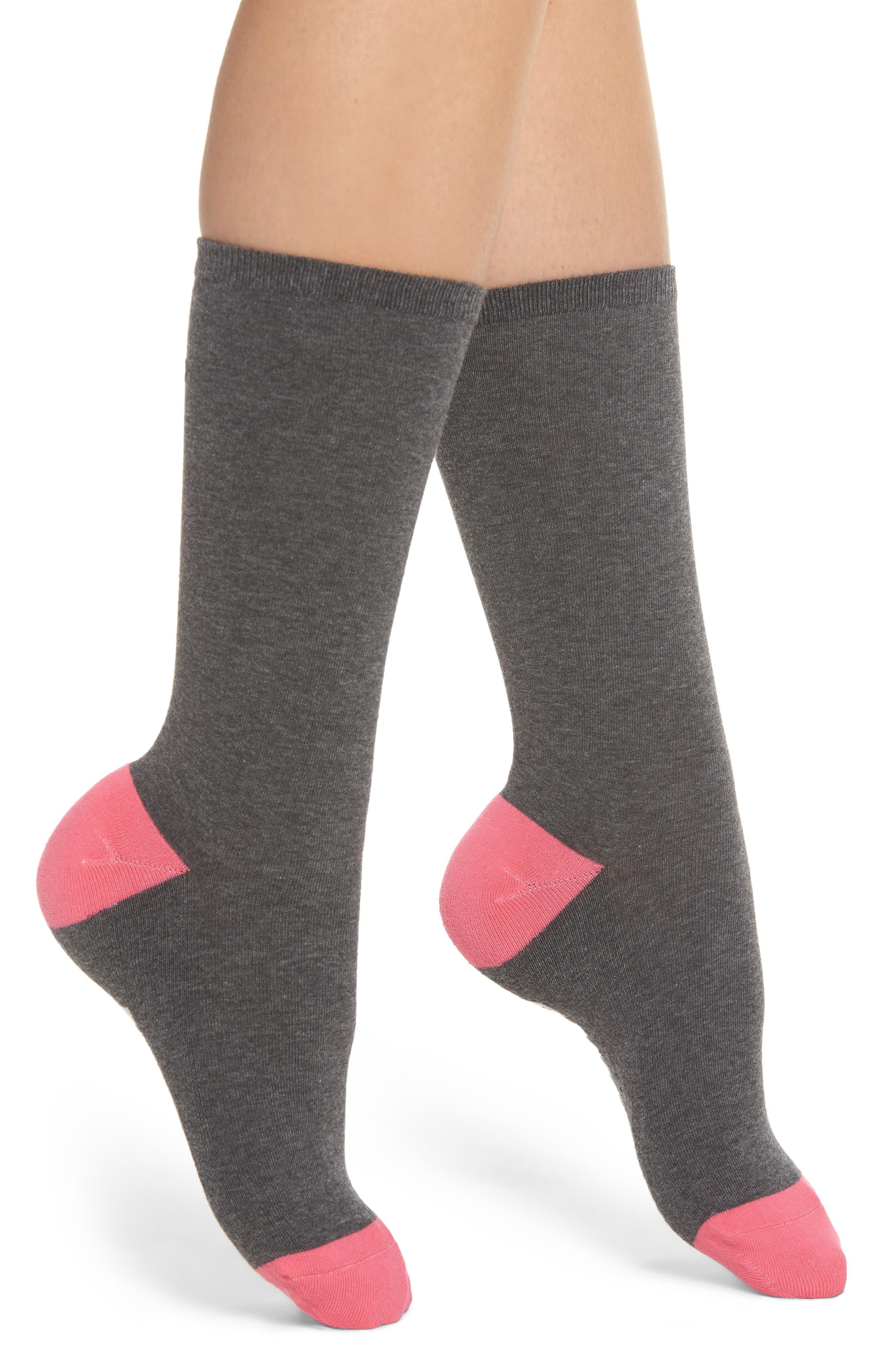 Keep Vibing Crew Socks,                             Alternate thumbnail 2, color,                             Charcoal Heather