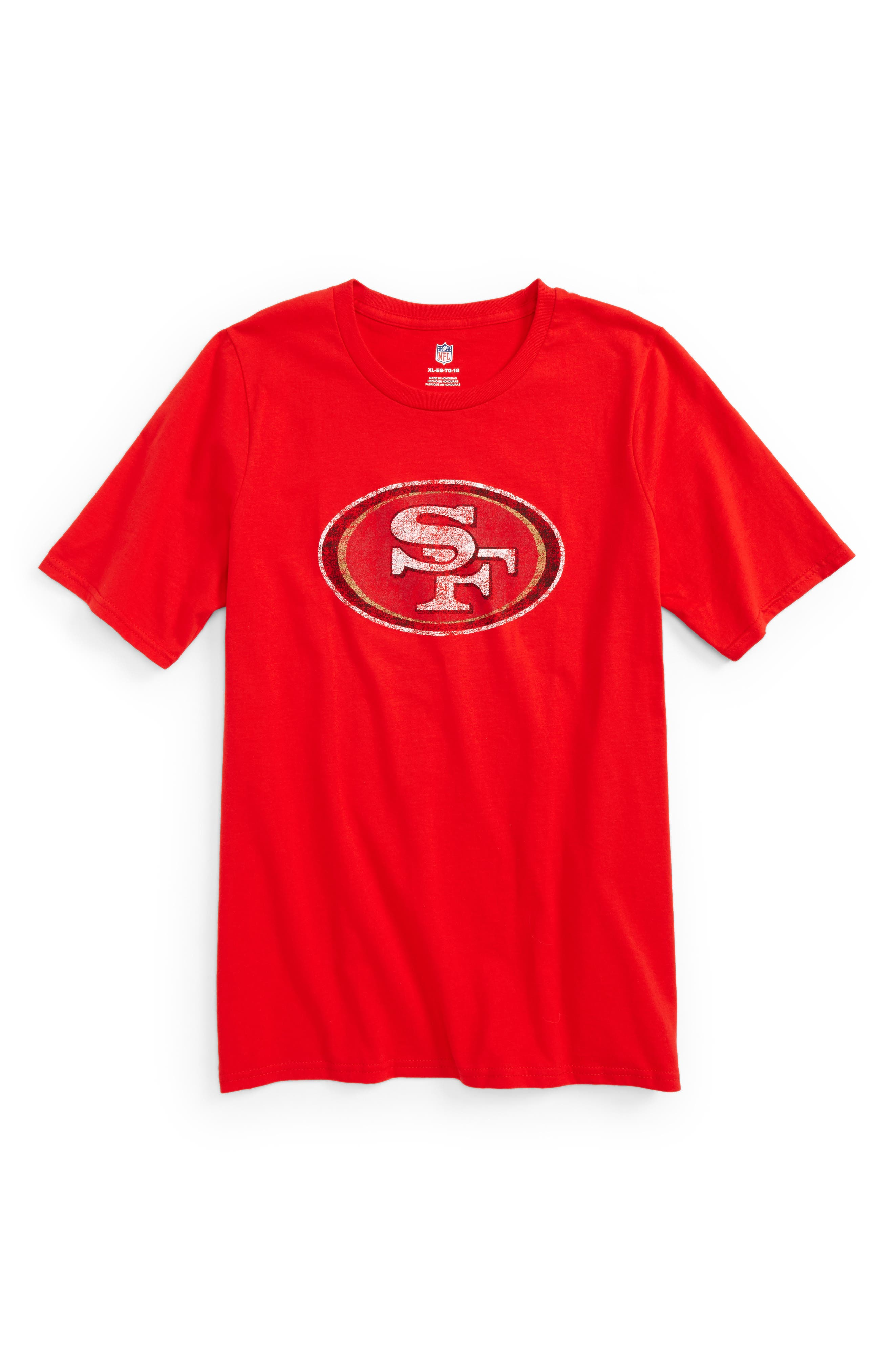 Outerstuff NFL San Francisco 49ers Distressed Graphic T-Shirt (Big Boys)