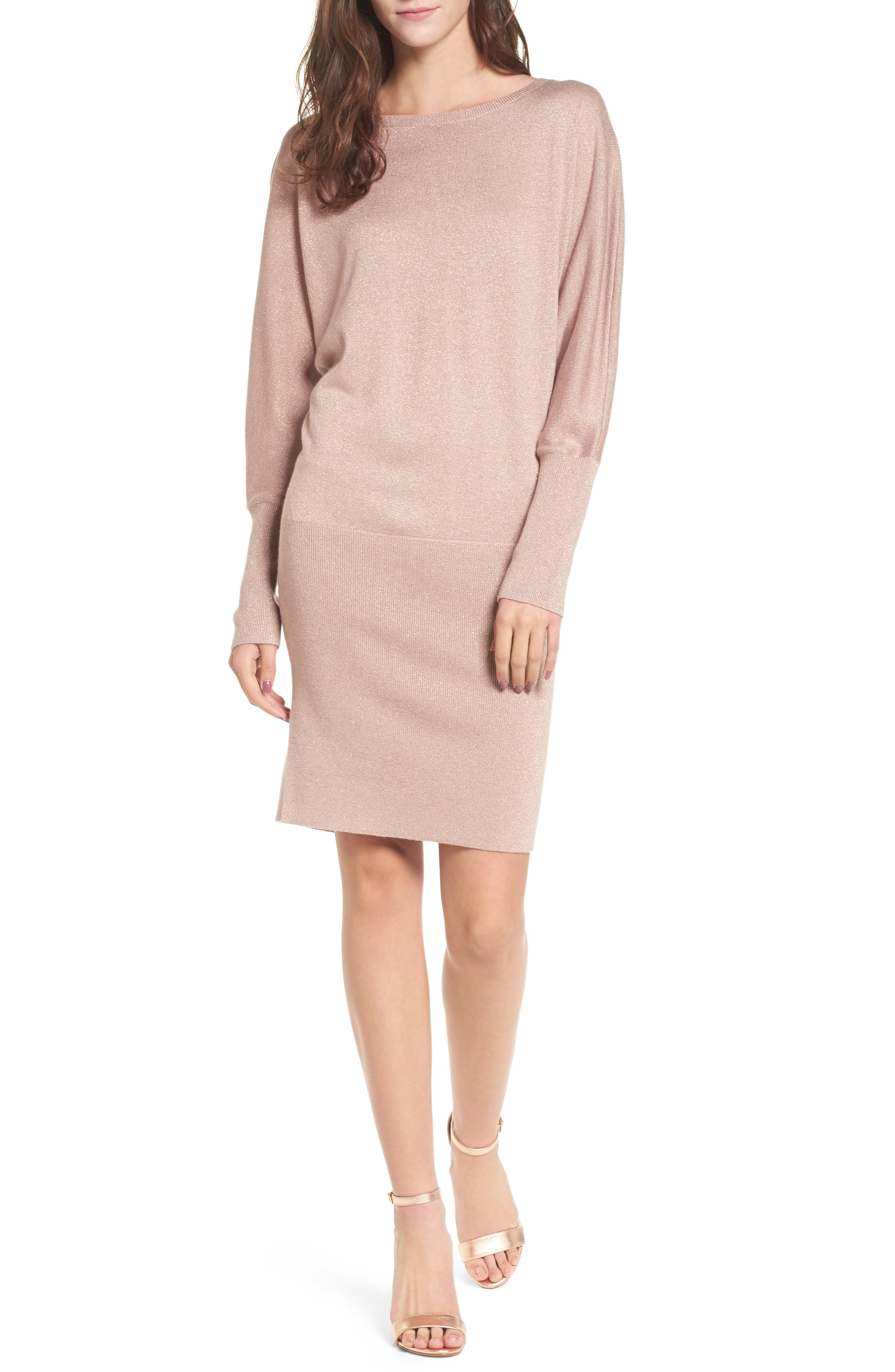 Main Image - Leith Shine Dolman Sleeve Sweater Dress