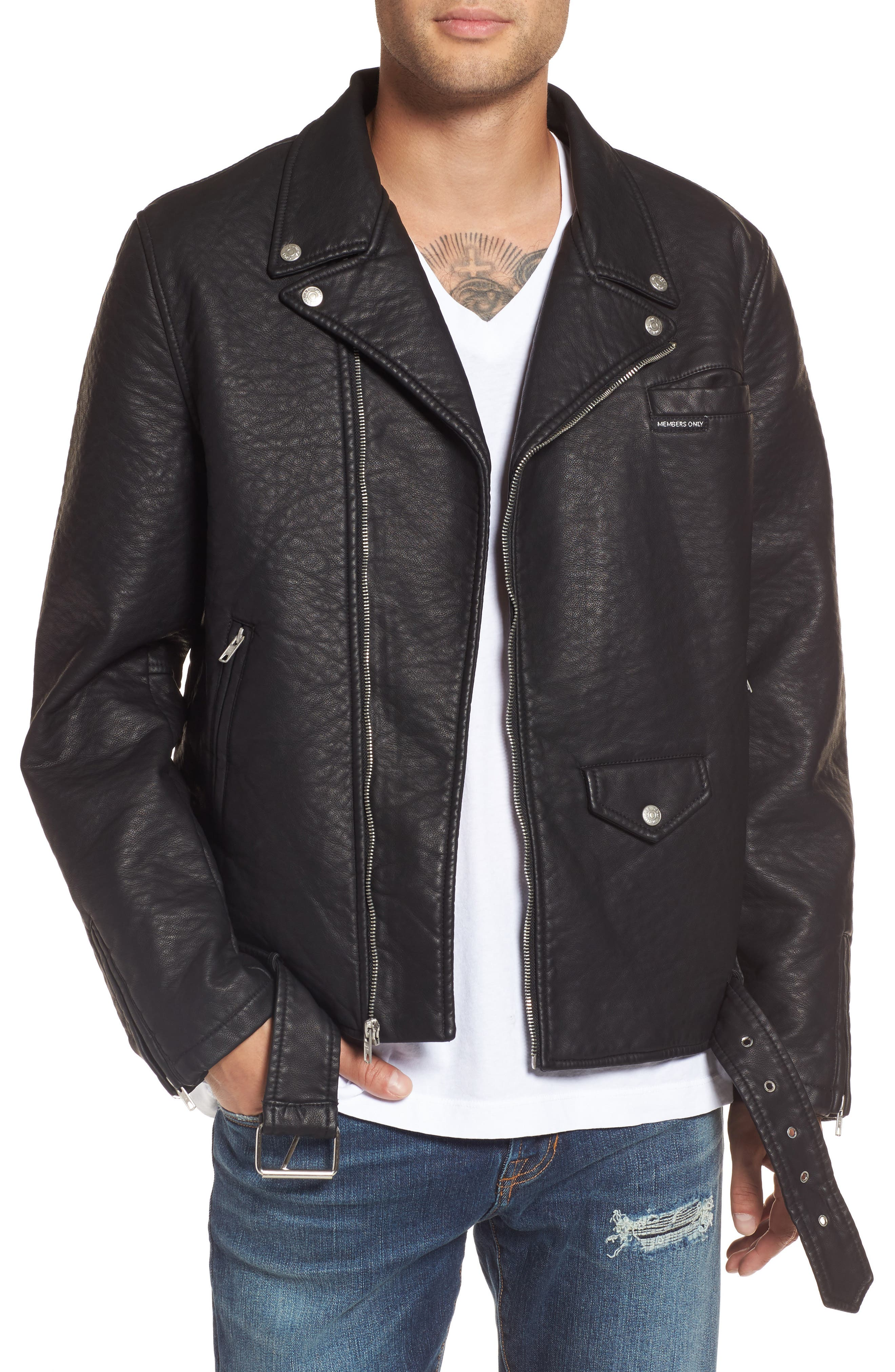 Main Image - Members Only Faux Leather Moto Jacket