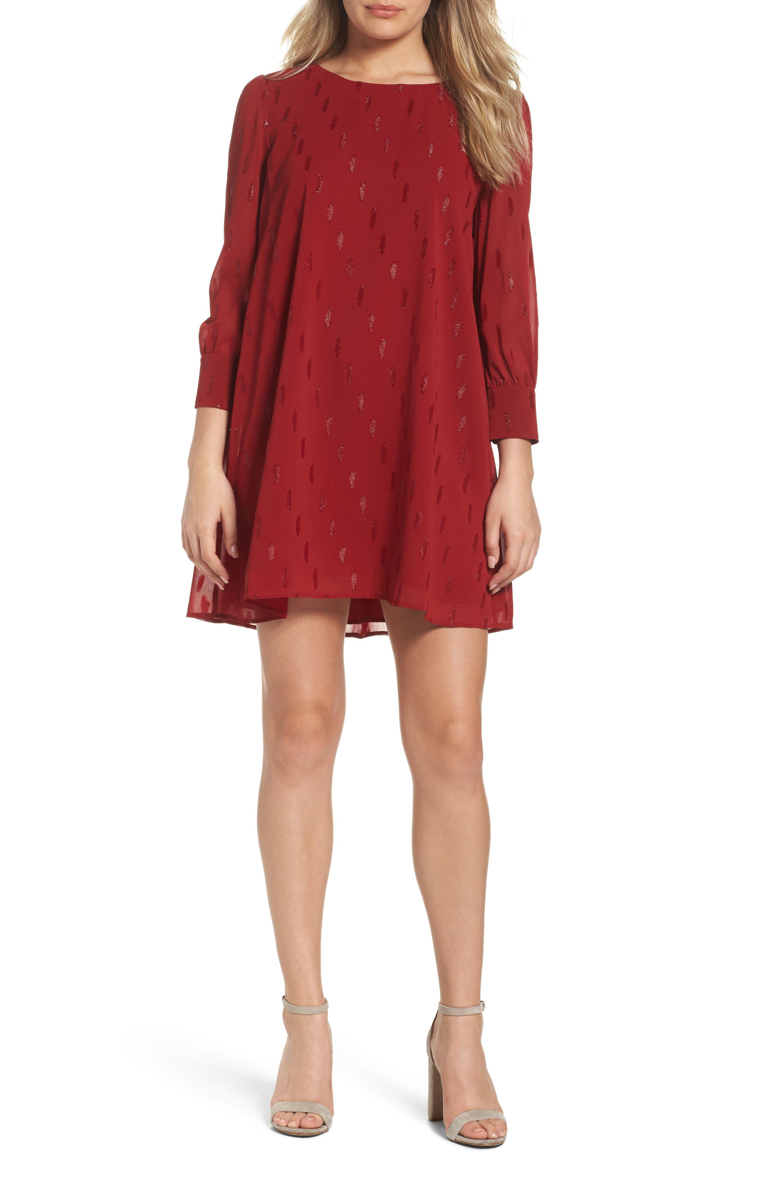 Dayna Shift Dress,                         Main,                         color, Lipstick Red