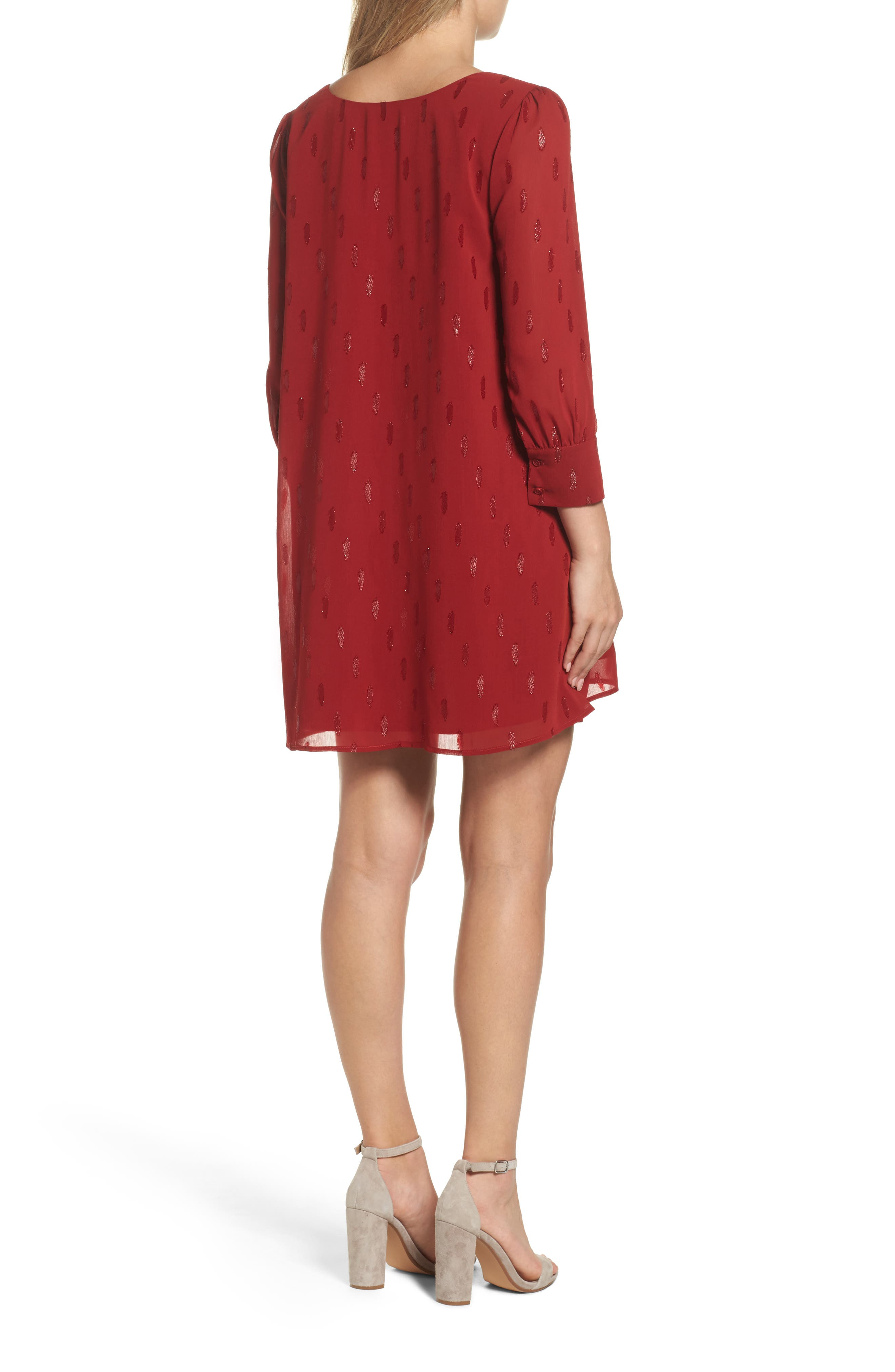 Dayna Shift Dress,                             Alternate thumbnail 2, color,                             Lipstick Red