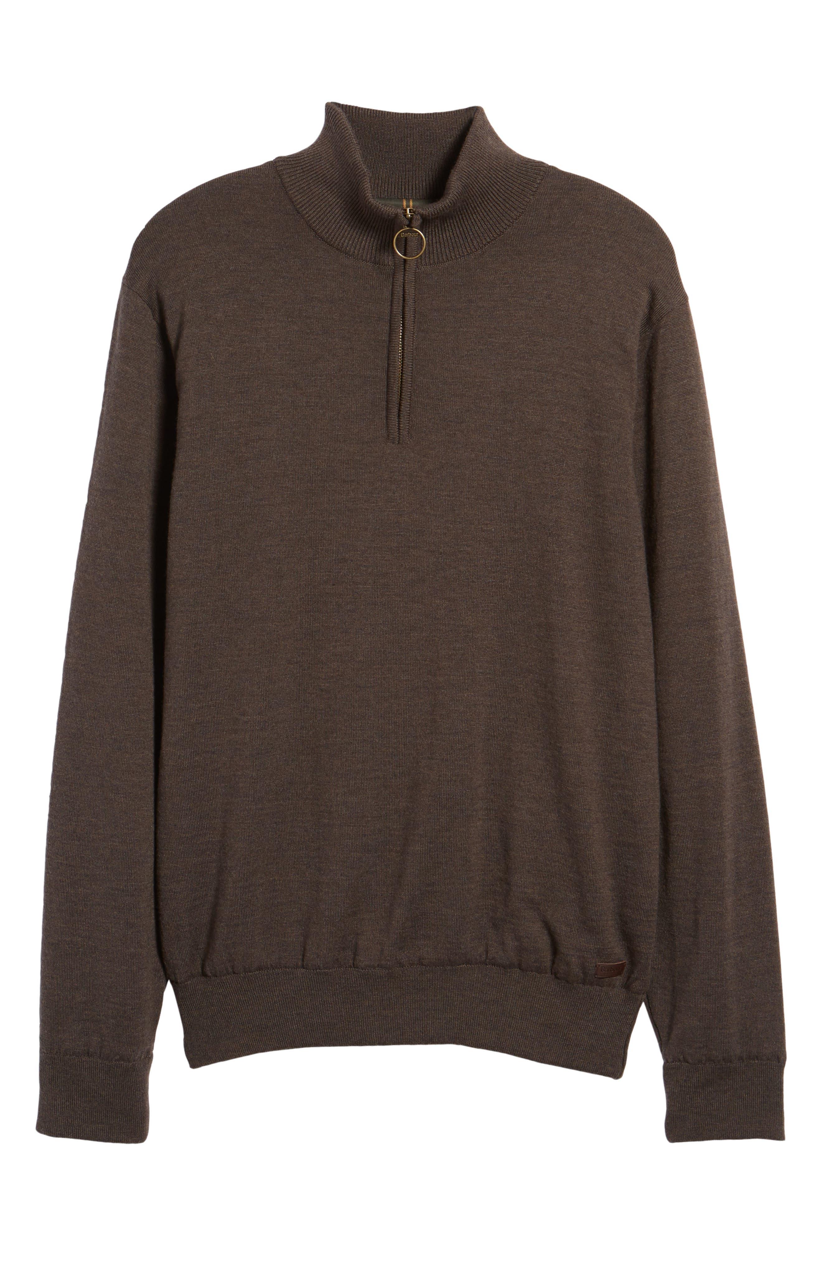 Gamlin Quarter Zip Wool Pullover,                             Alternate thumbnail 6, color,                             Rustic