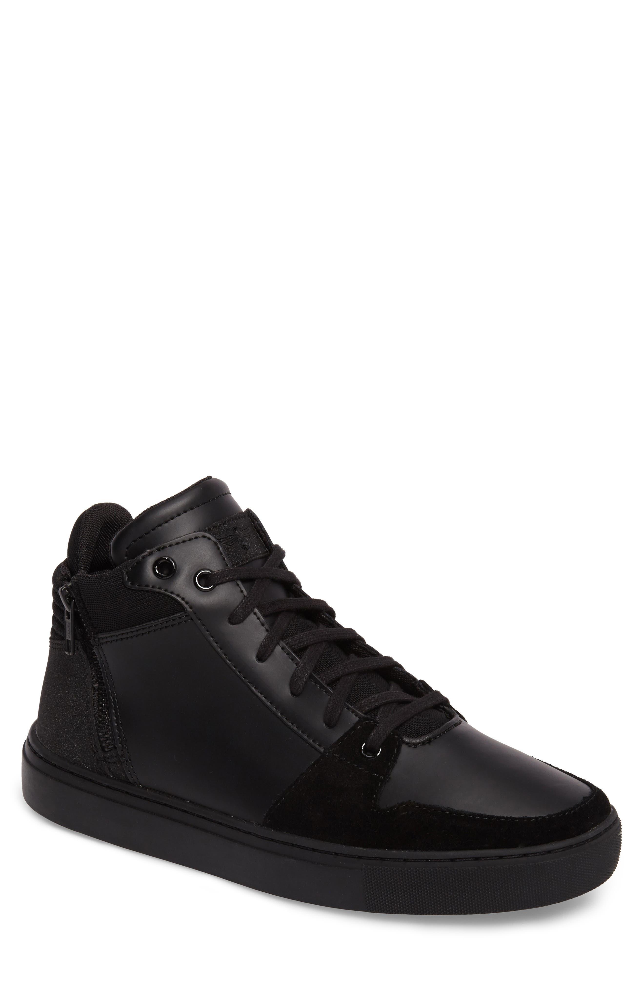 Modena Sneaker,                         Main,                         color, Black Tech