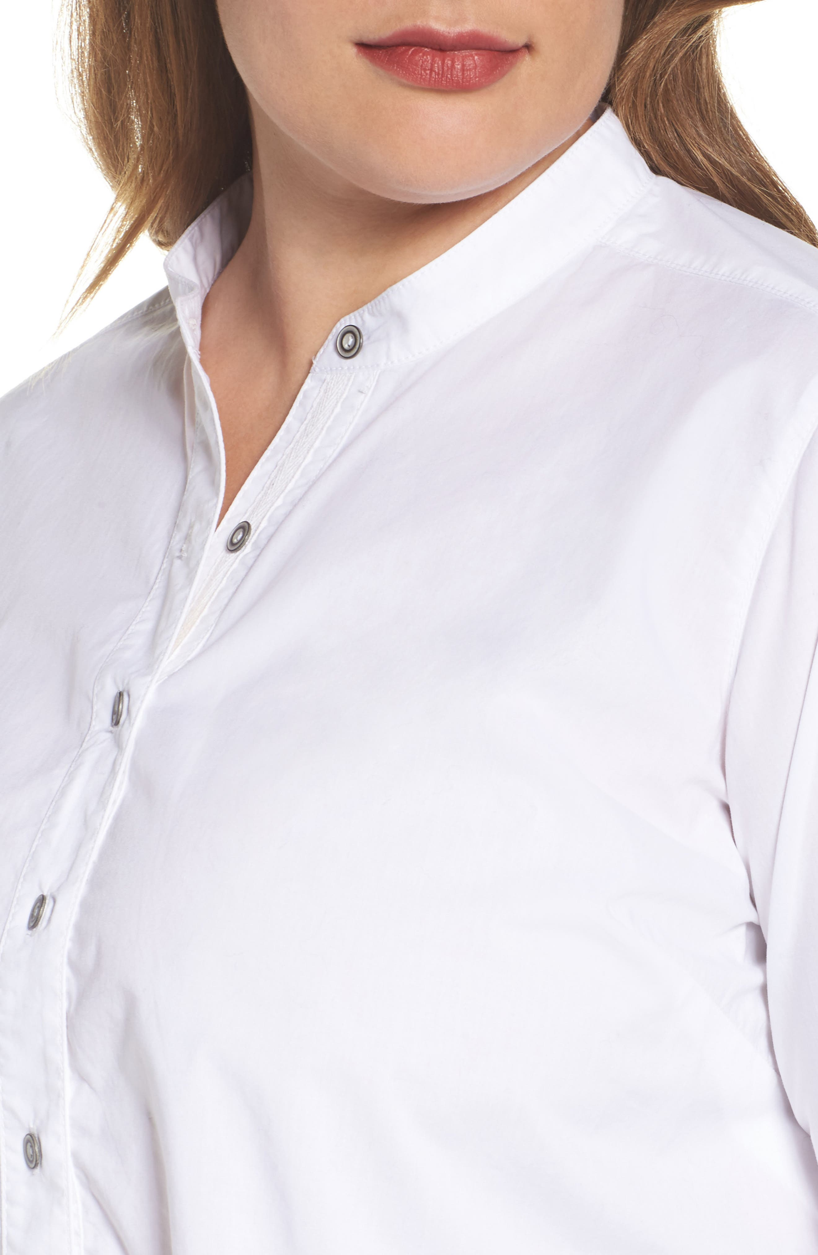 Alternate Image 4  - Caslon® Popover Shirt (Plus Size)