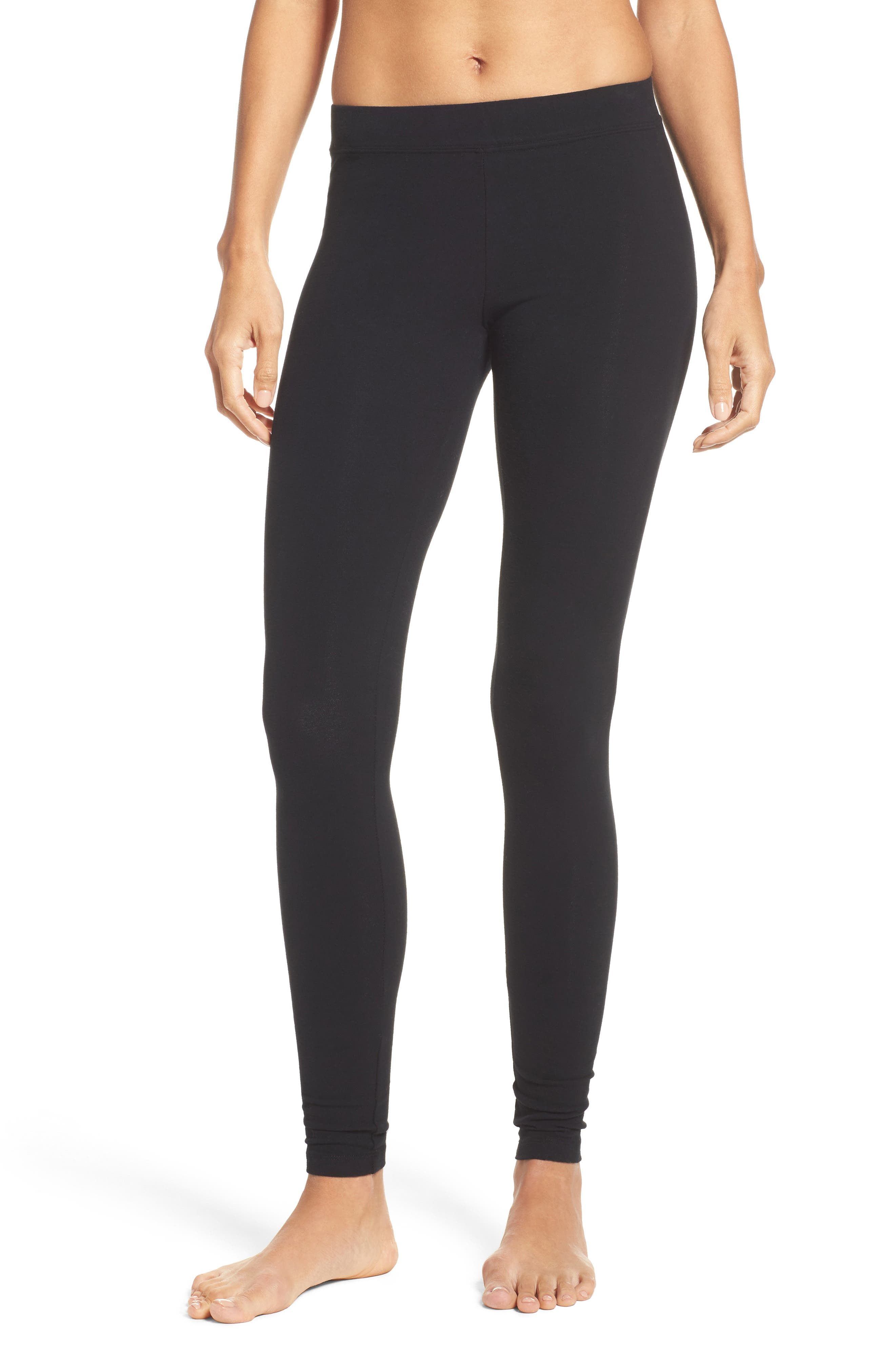 Stretch Leggings,                         Main,                         color, Black