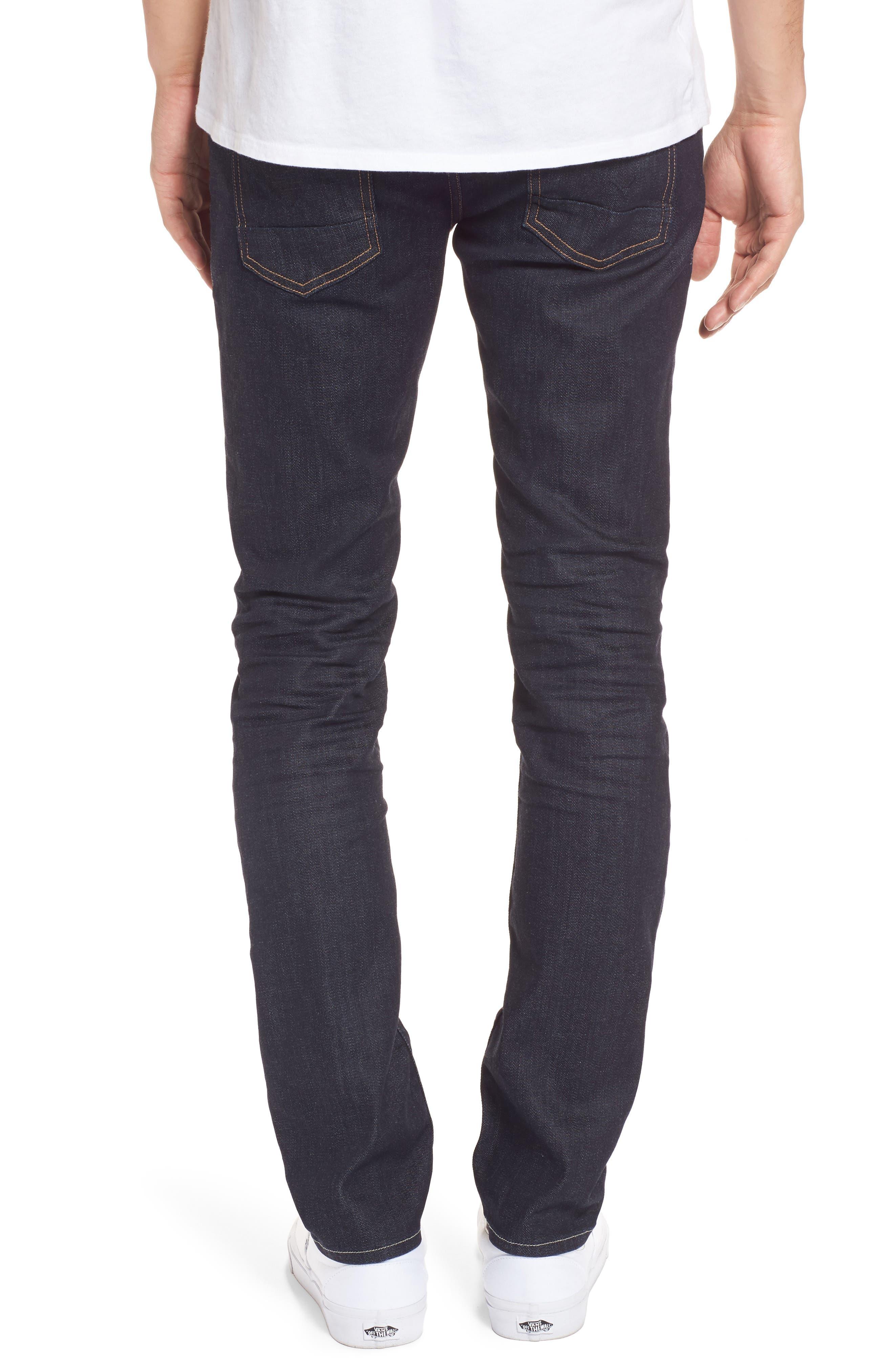 Hudson Axl Skinny Fit Jeans,                             Alternate thumbnail 2, color,                             Fiend
