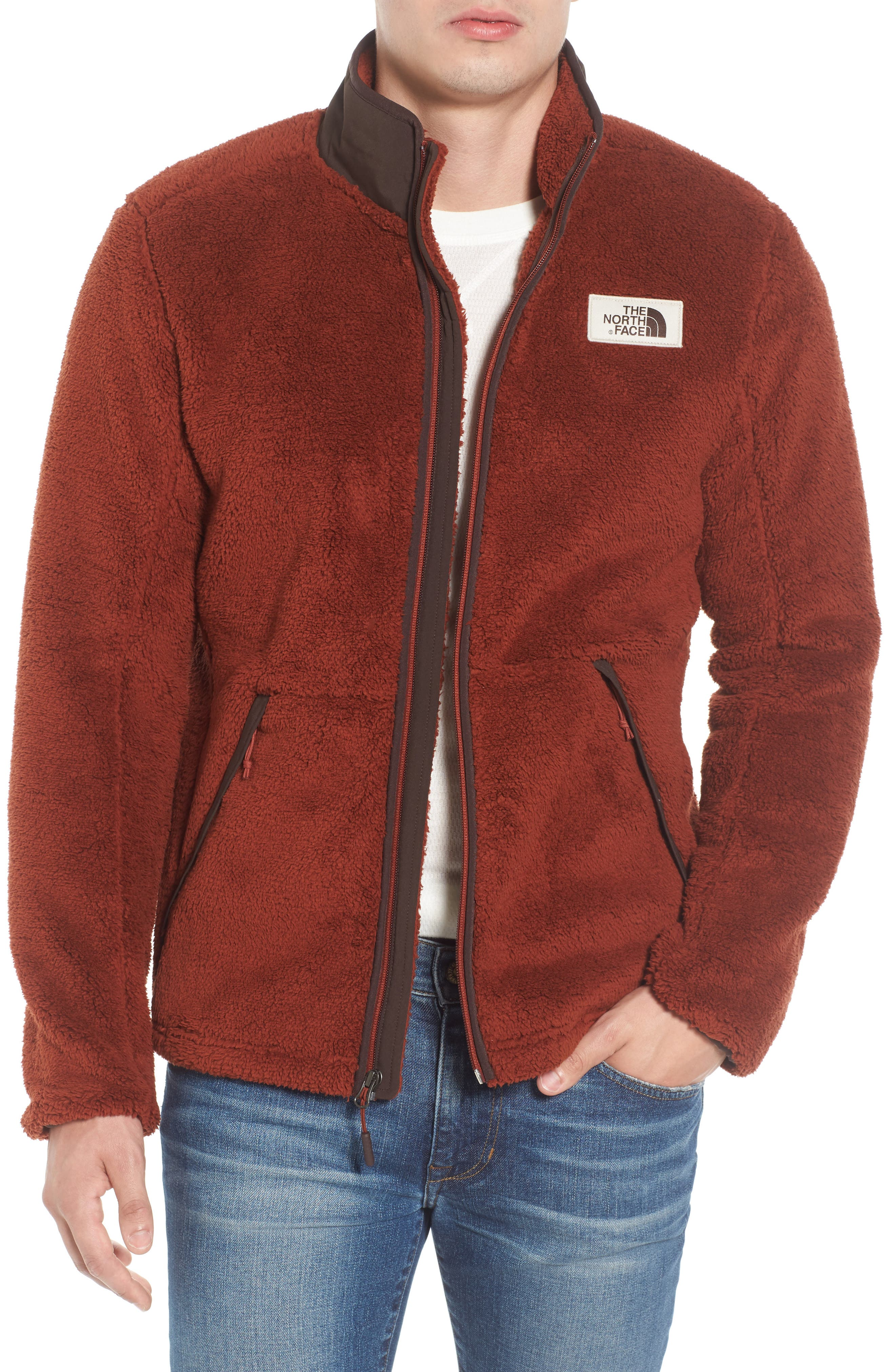 Campshire Zip Fleece Jacket,                         Main,                         color, Brandy Brown