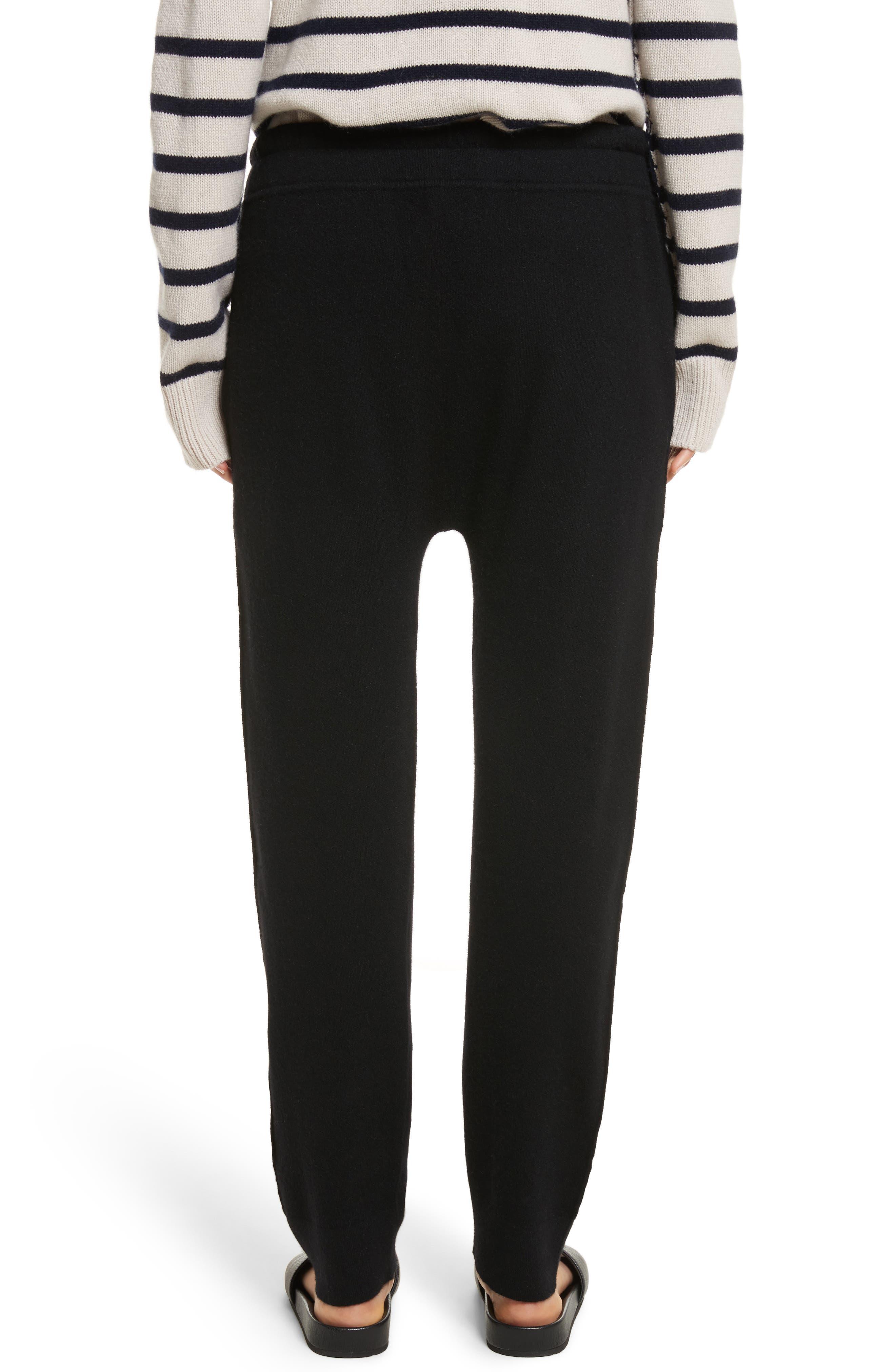 Wool & Cashmere Blend Jogger Pants,                             Alternate thumbnail 2, color,                             Black