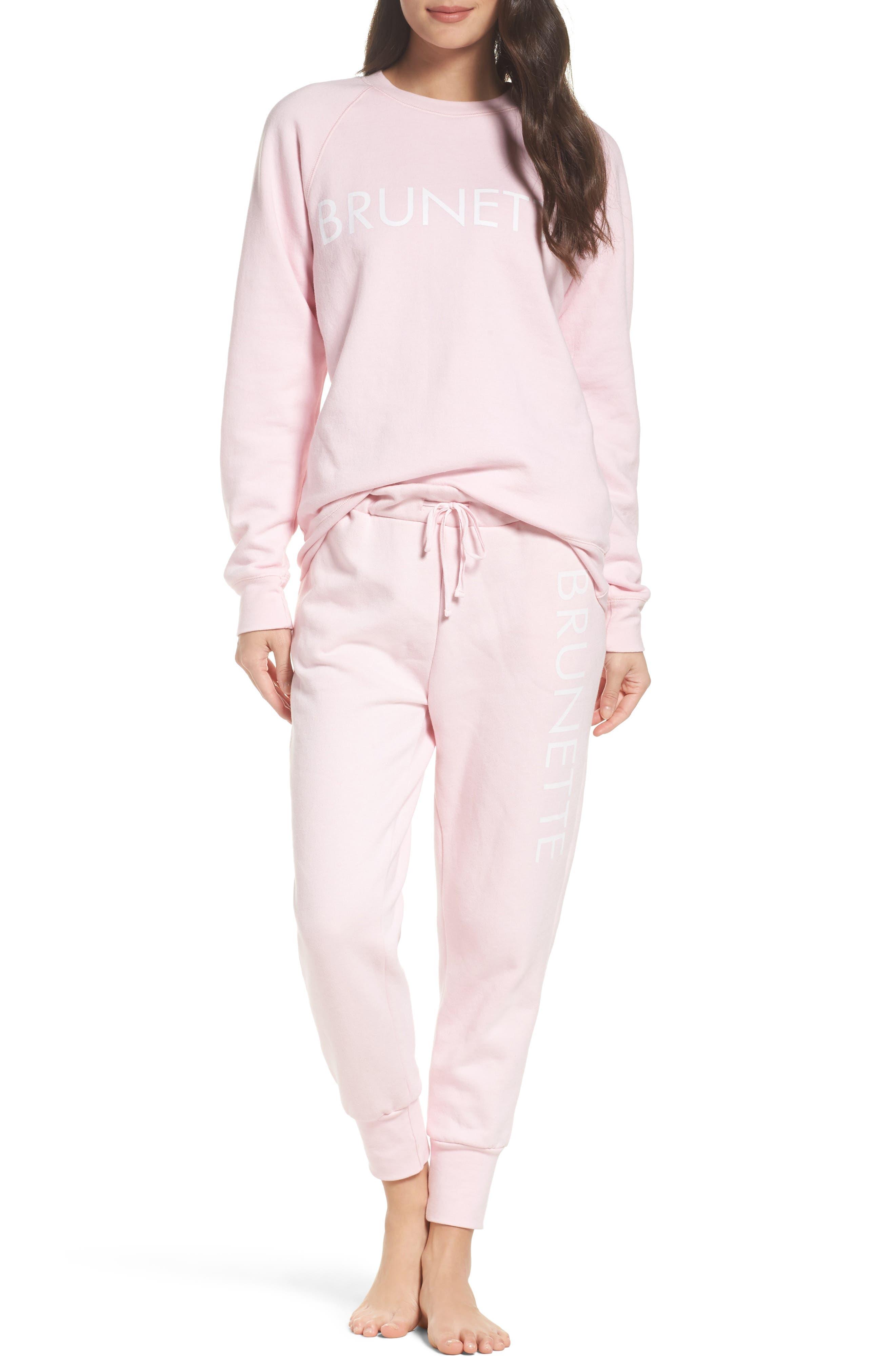 Brunette Jogger Pants,                             Alternate thumbnail 5, color,                             Pink