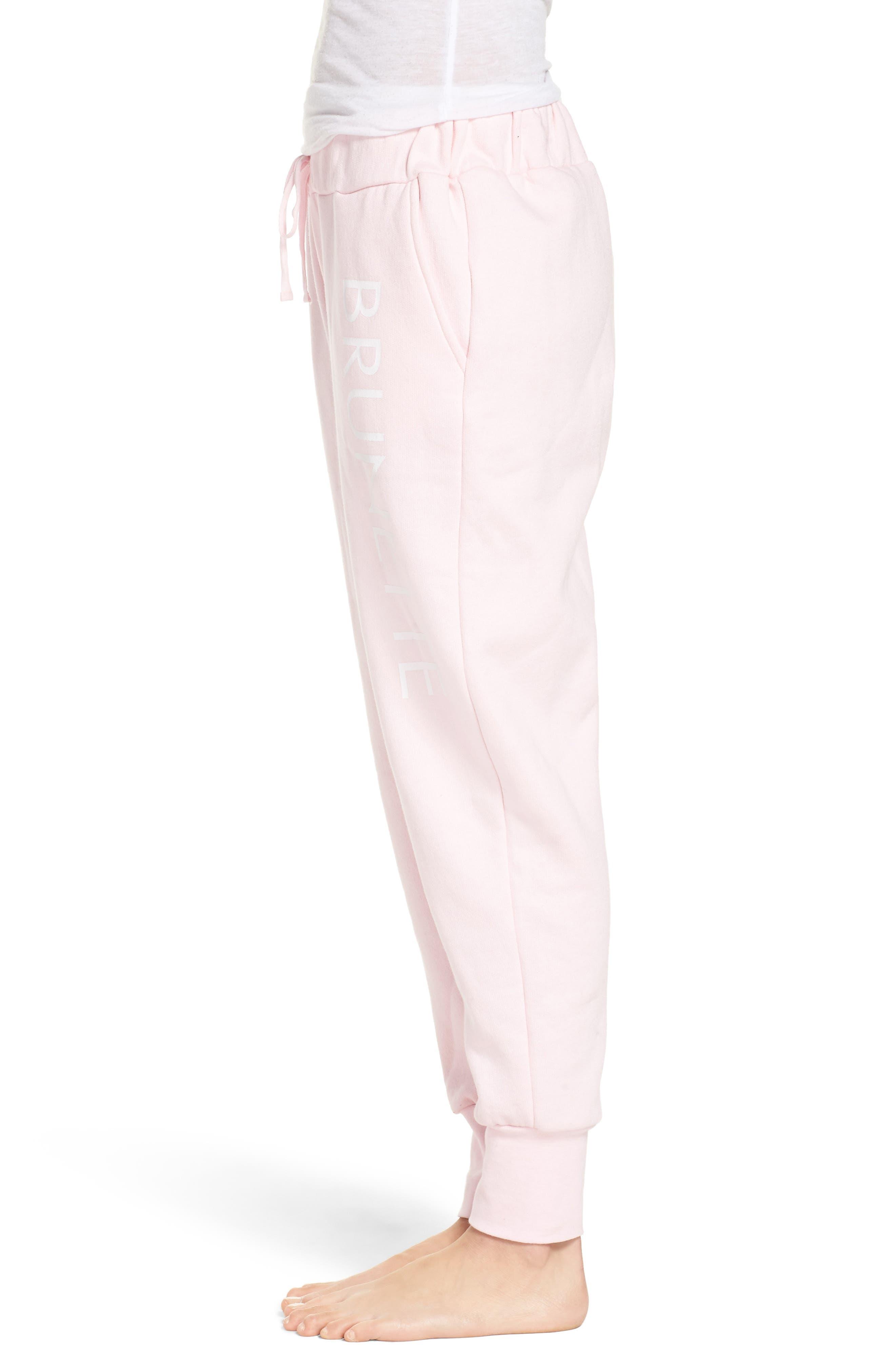 Brunette Jogger Pants,                             Alternate thumbnail 3, color,                             Pink